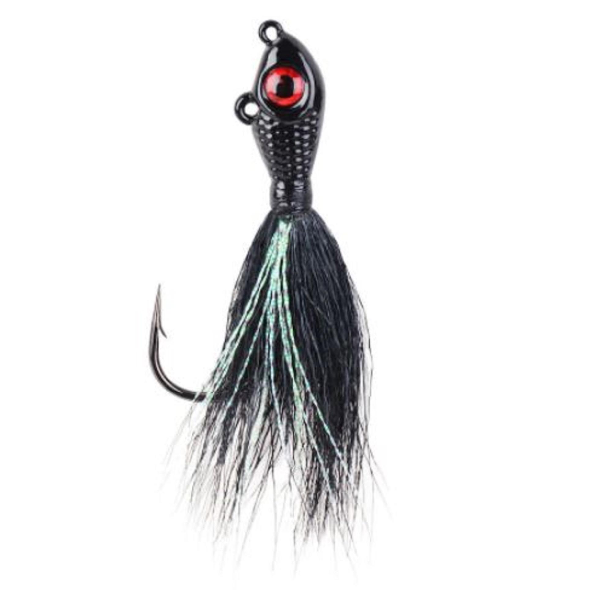 Mustad BEB-3/4-BK Bucktail Big Eye 3/4 Oz Black (0853)