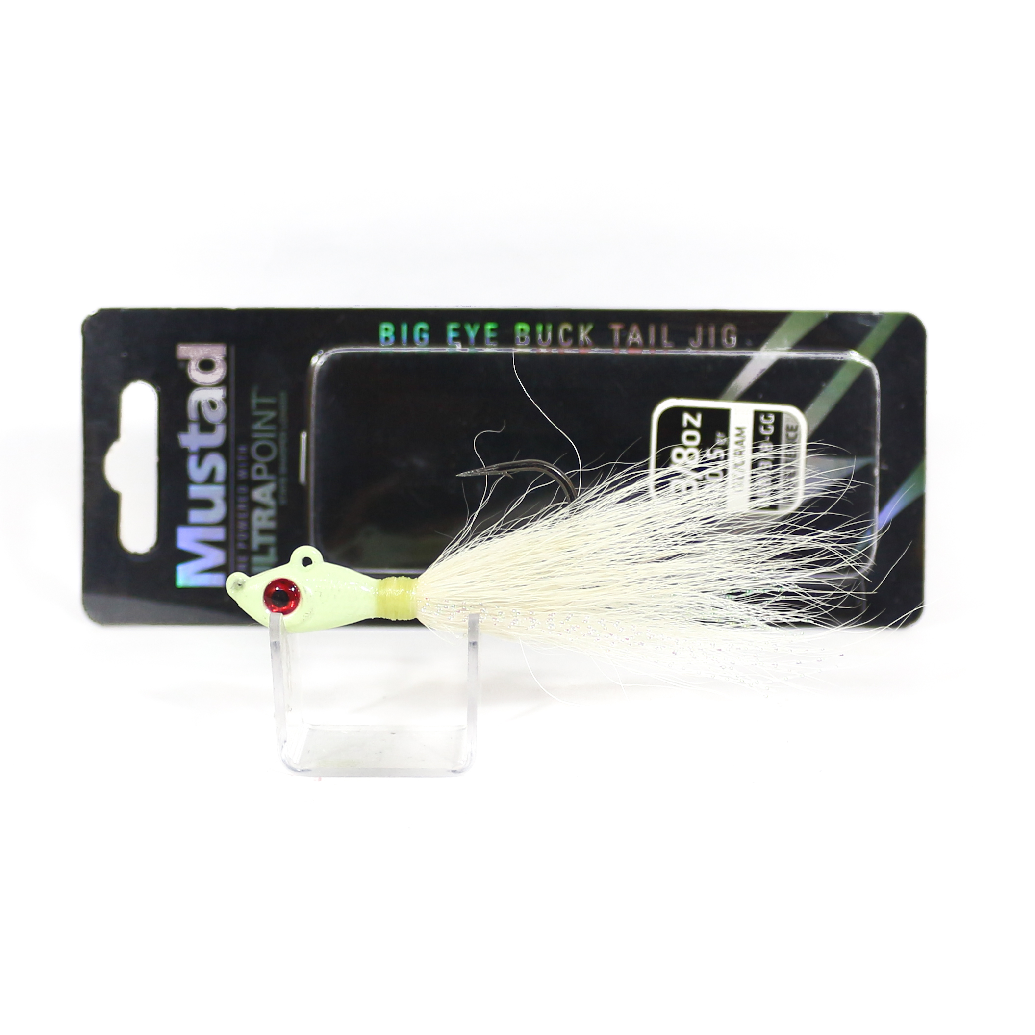 Mustad Bucktail Big Eye 3/8 Oz Glow (0709)