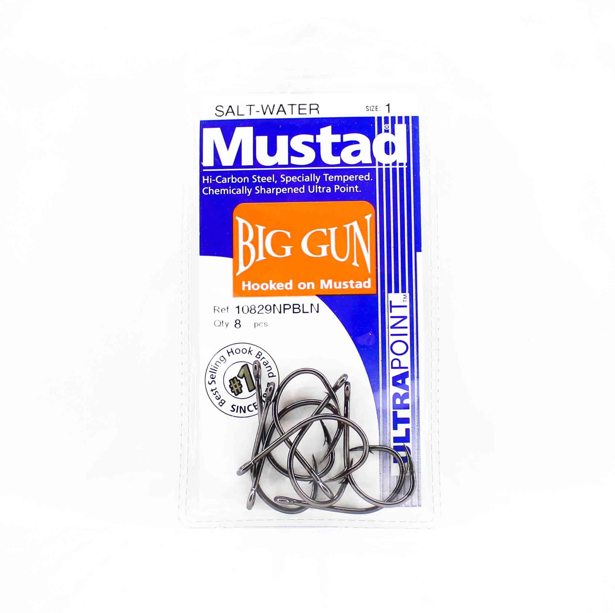 Mustad 10829NP-BN-1-A08 Big Gun Ultra Point Hooks Size 1 (1705)