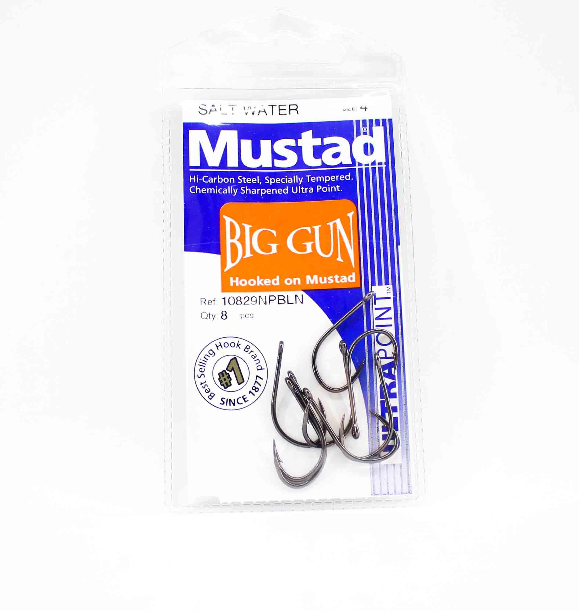 Mustad 10829NP-BLN-4-A08 Big Gun Ultra Point Hooks Size 4 (1736)