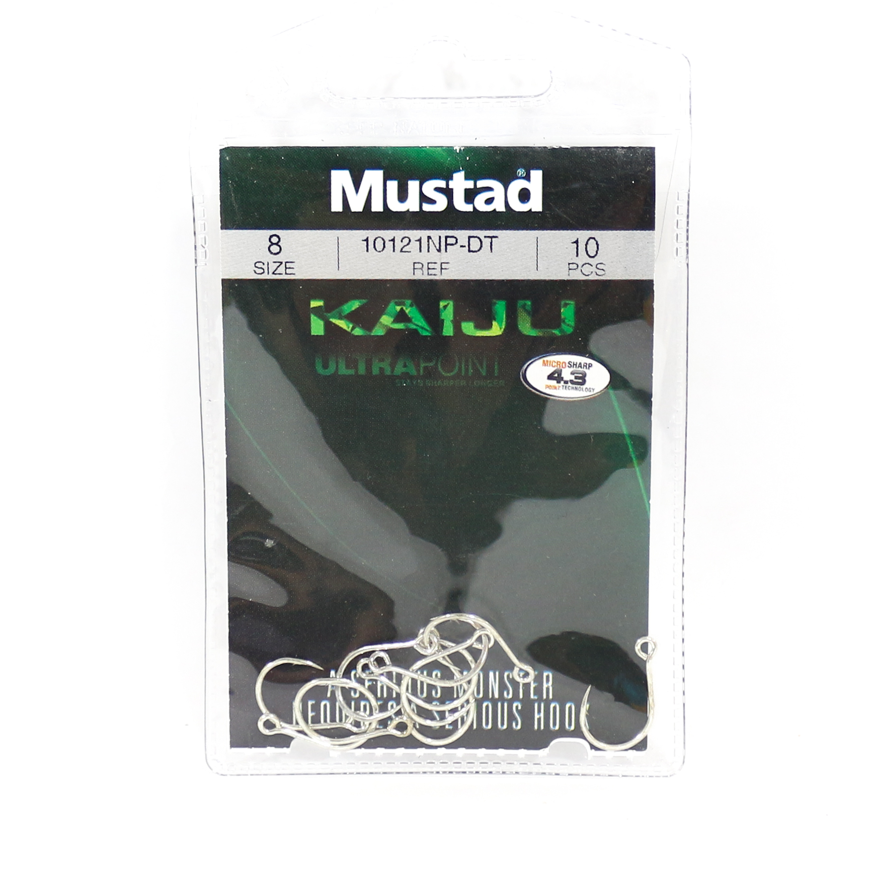 Mustad Single Hook Kaiju In-Line Size 8 (0156)