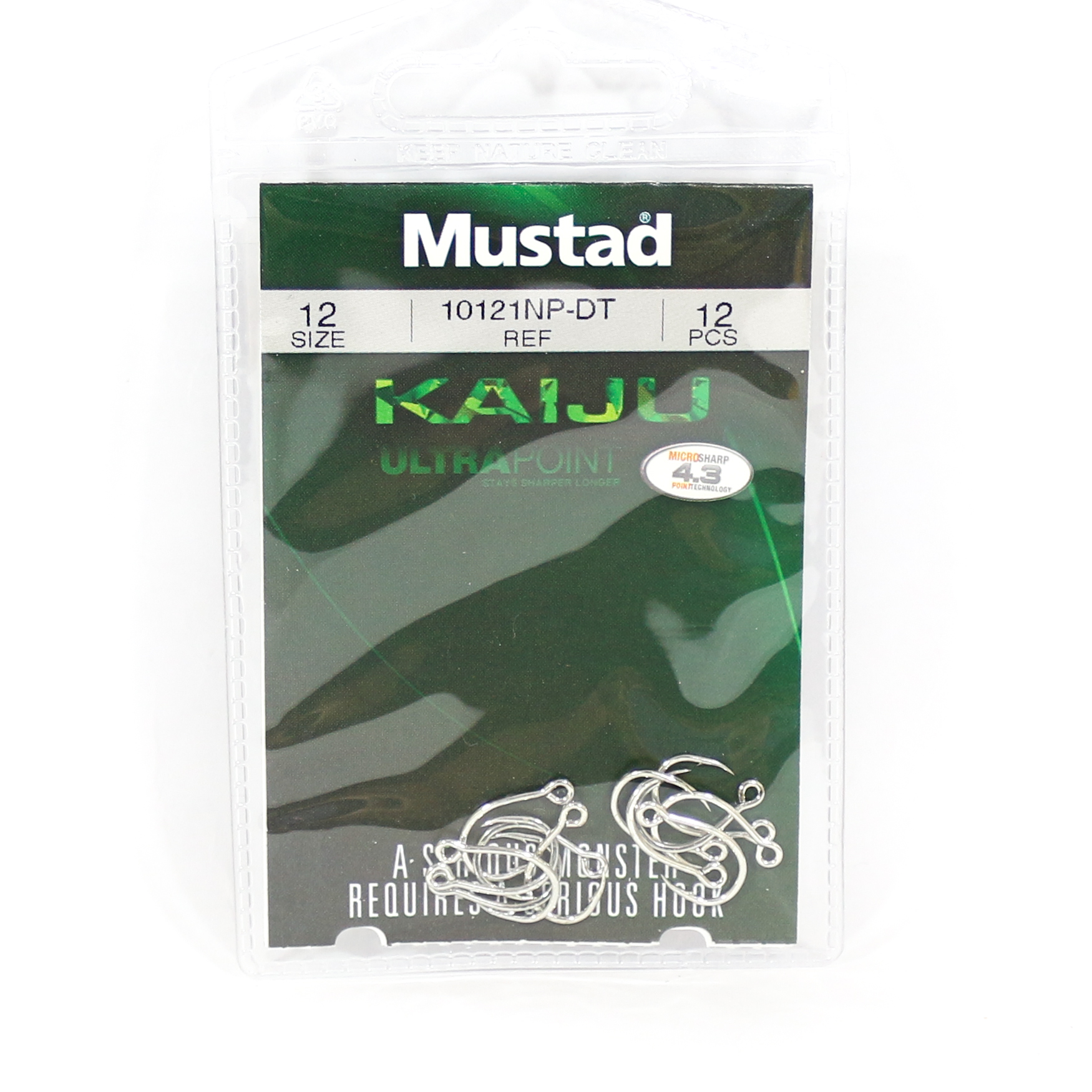 Mustad Single Hook Kaiju In-Line Size 12 (5220)