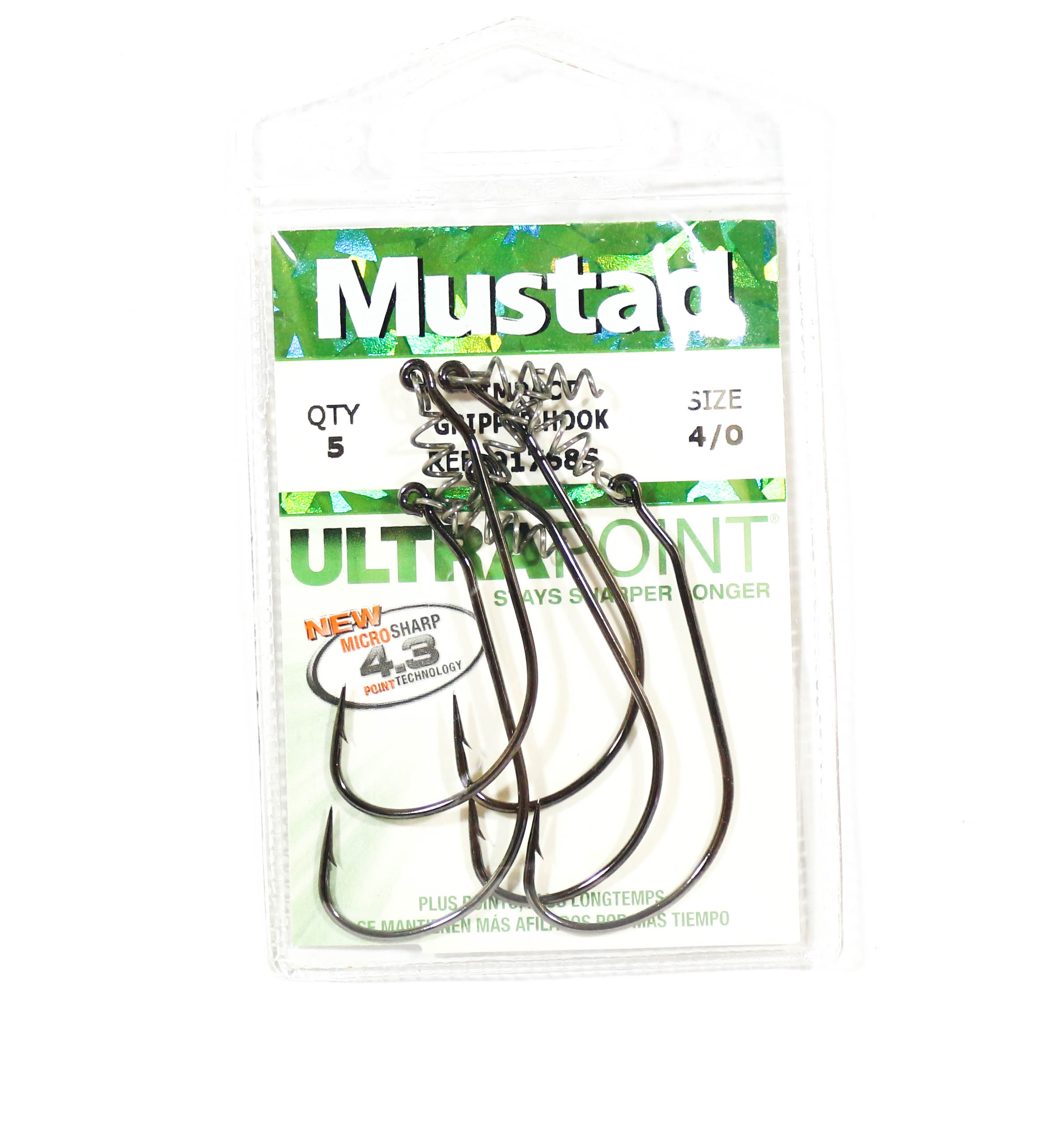 Mustad Spring Keeper Hook Size 4/0 Black Nickel (8349)