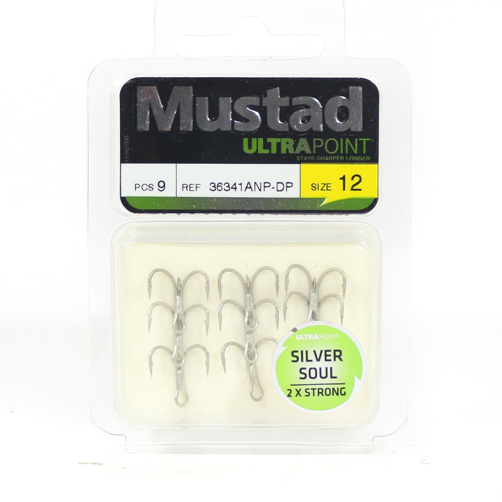 Mustad Treble Hook Silver Soul 2X Size 12 (6831)