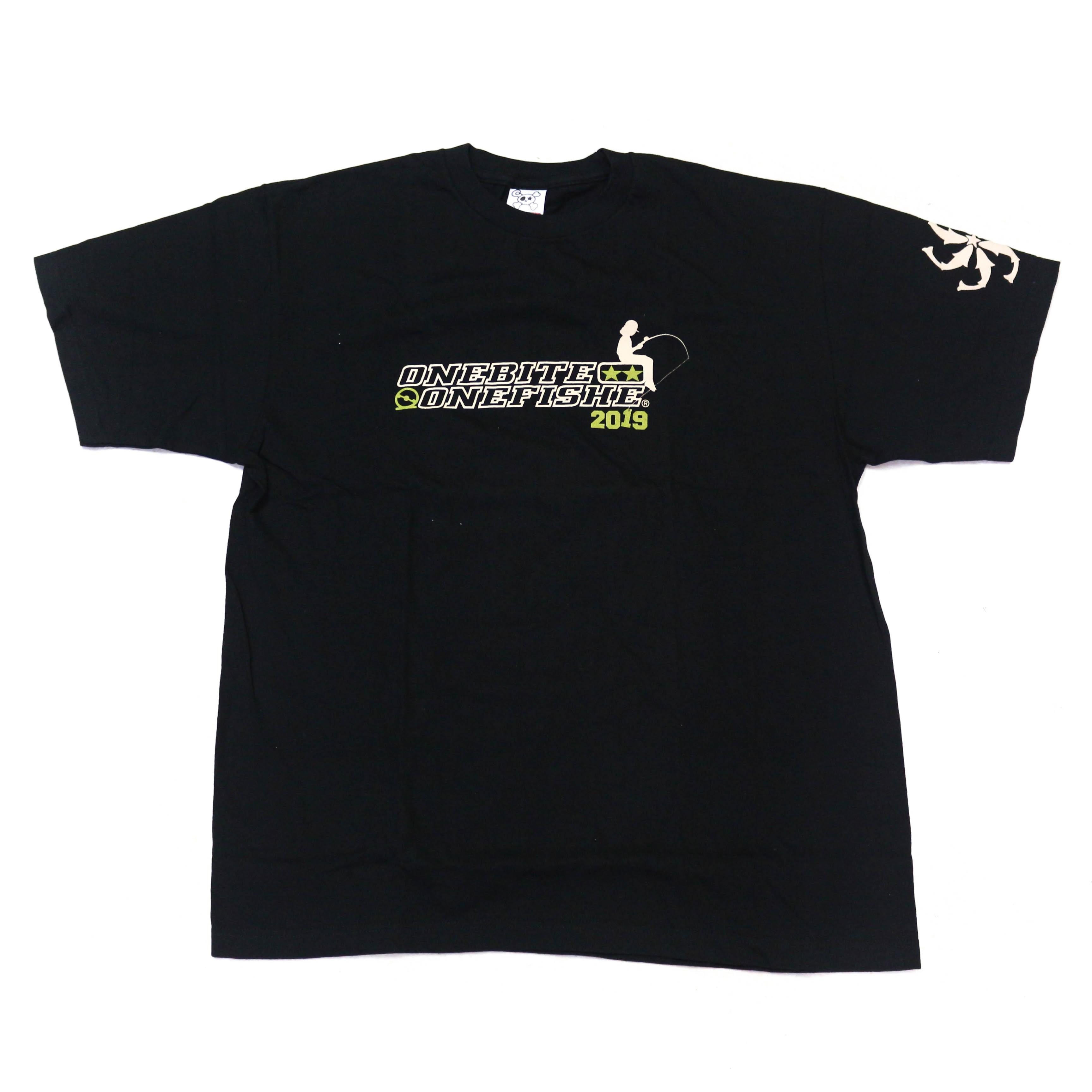 One Bite One Fish OBOF T-Shirt 2019 Short Sleeve Black Size XL (2007)