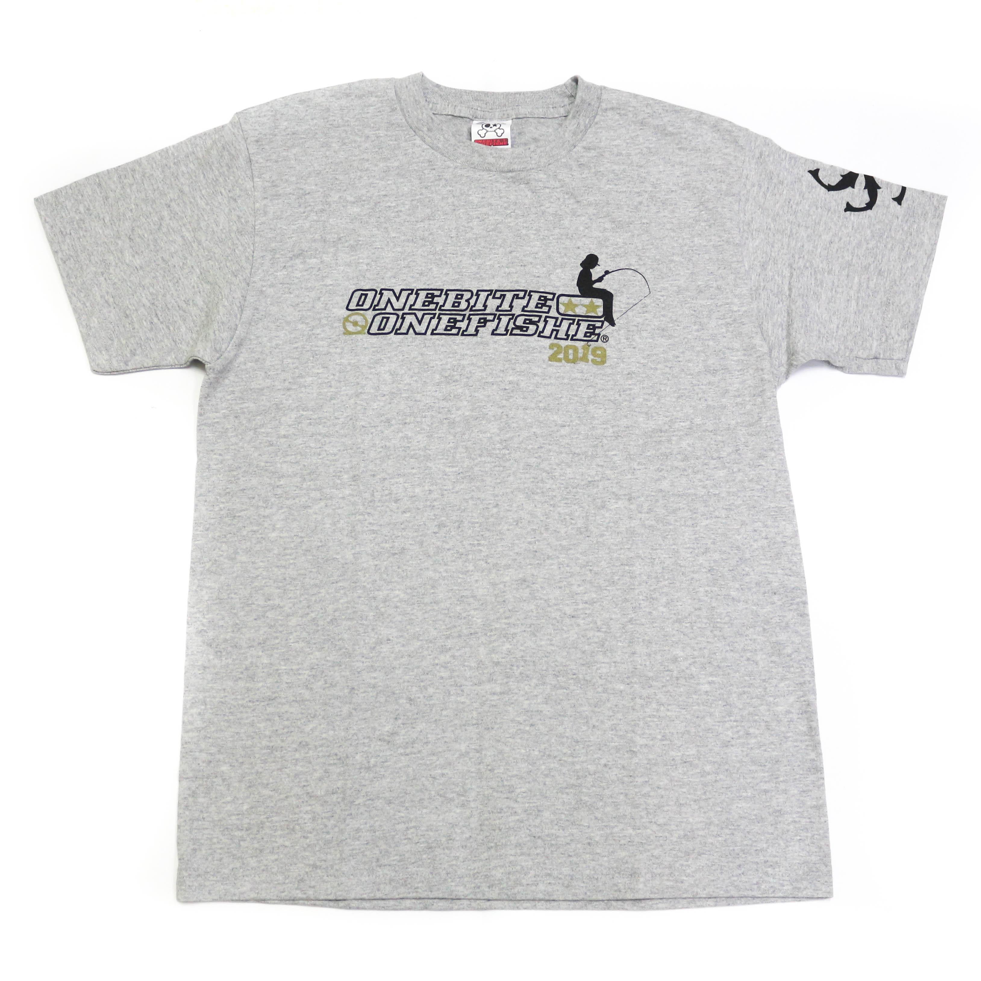 One Bite One Fish OBOF T-Shirt 2019 Short Sleeve Ash Gray Size M (2013)