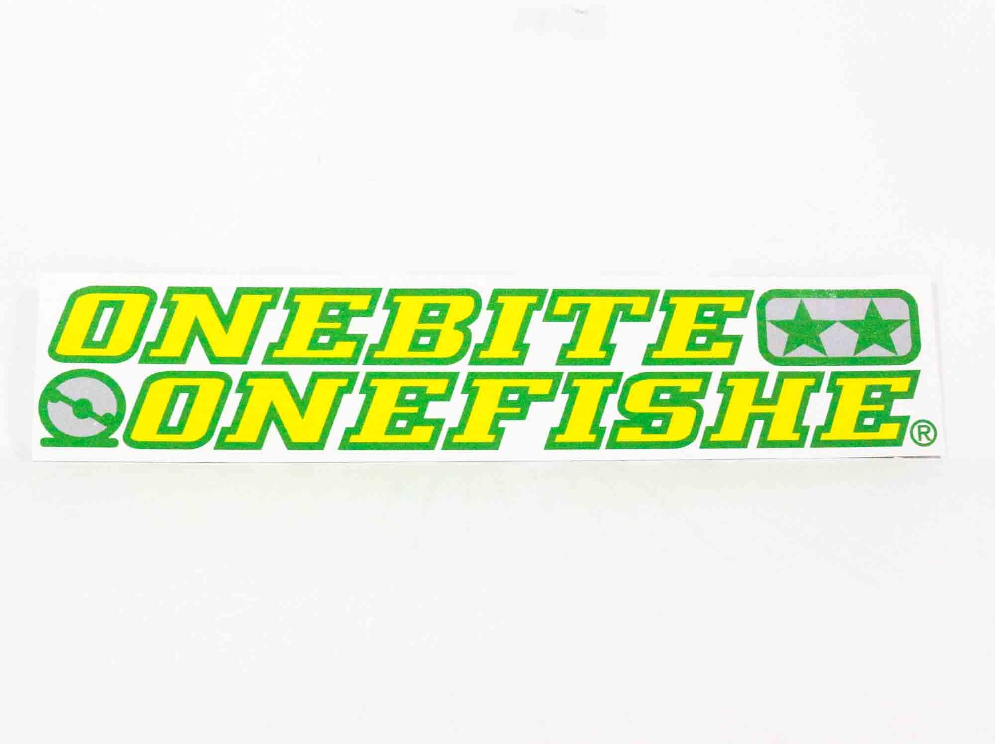 One Bite One Fish Sticker Type B OBOF Green Yellow 27cm (2033)