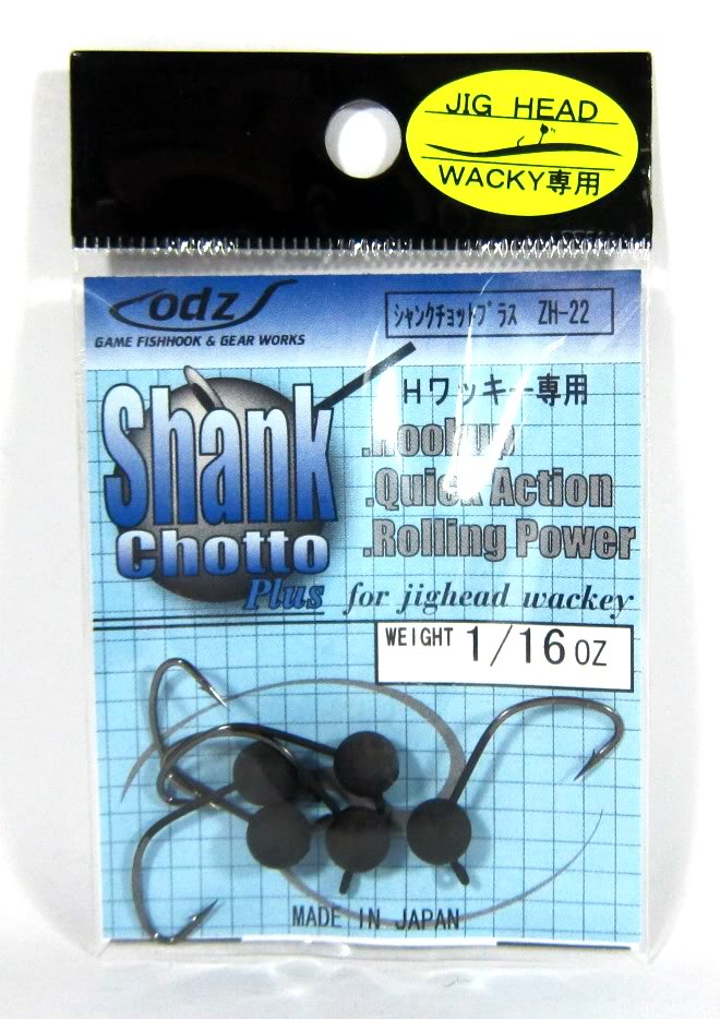 ODZ ZH-22 Jig Head Shank Chotto Round 1//20 oz Size 2 5//pack 3206