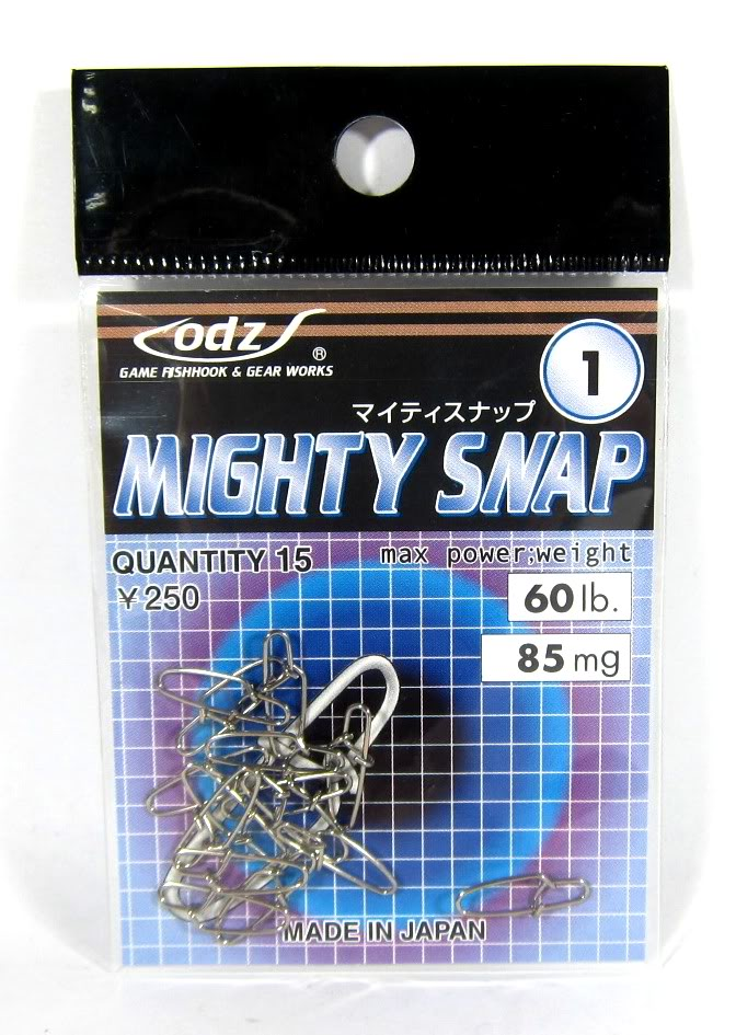 ODZ OS-7 Mighty Snap Lure Snap Size 0 15/pack (6507)