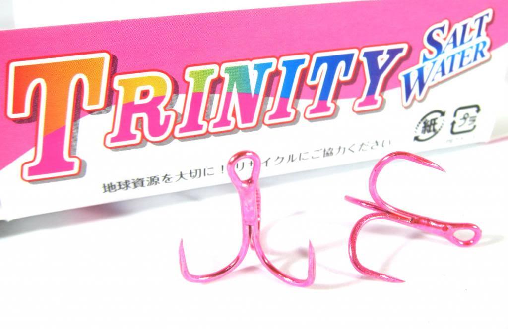 ODZ ZH-31 Treble Hook Trinity Pink Size 2 6/pack (2346)