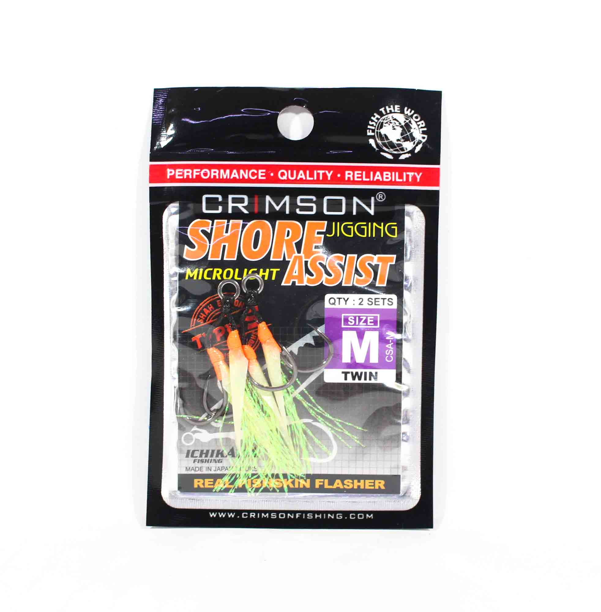 Crimson CSA-M Shore Jigging Assist Hook Twin 2 per pack Size M (2587)