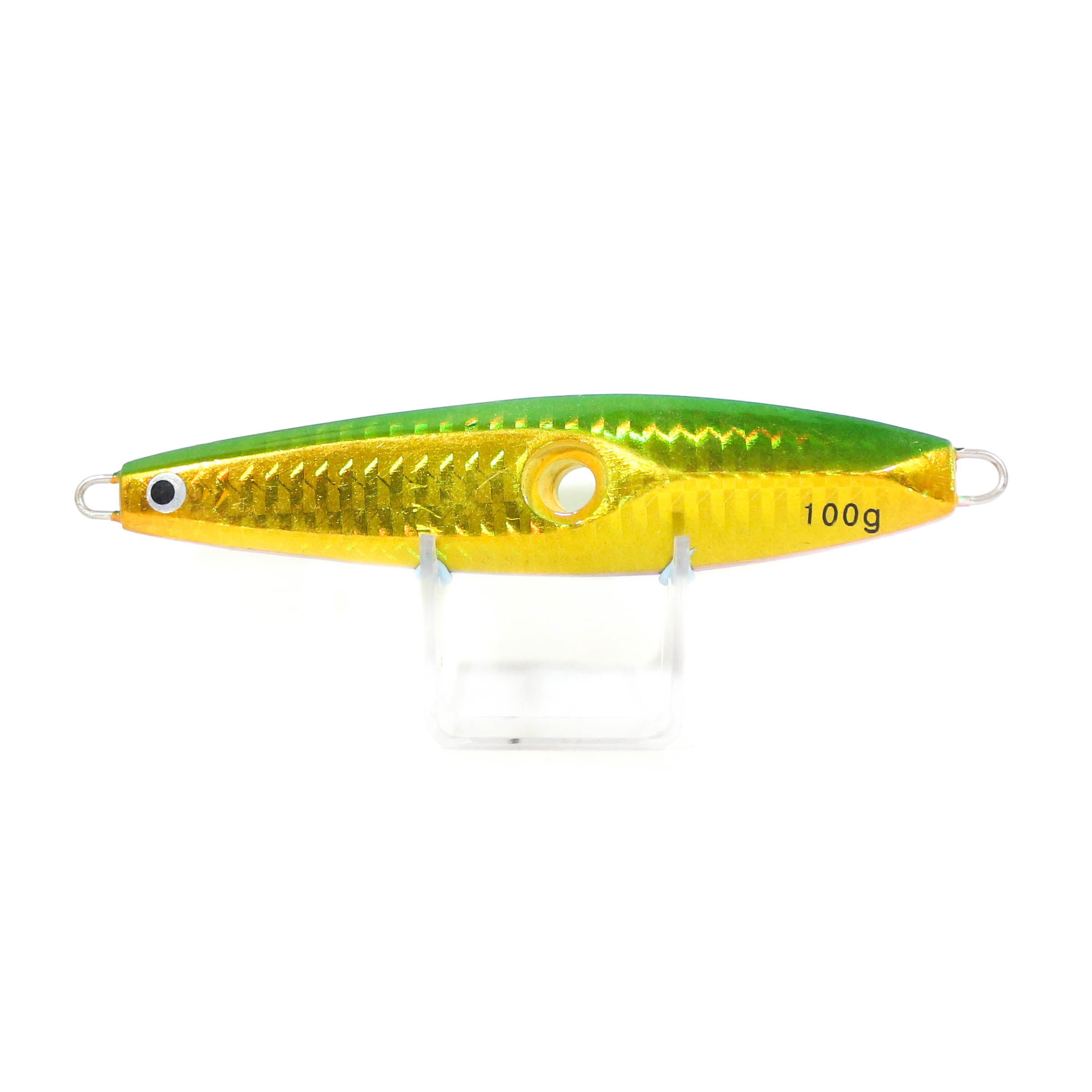 Metal Inchiku Jig Head 100 grams Green Flash (0005)