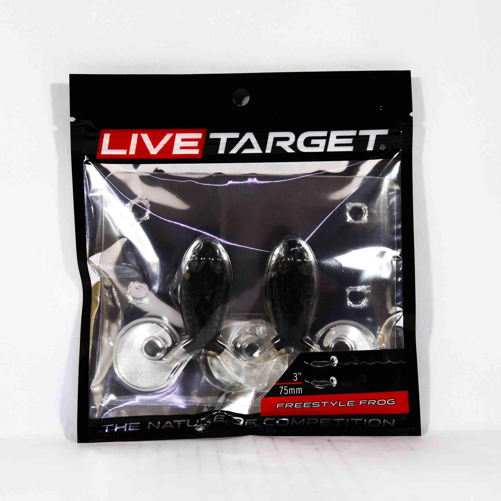 Live Target FSF75T517 Freestyle Frog 3 Inch Black Black (3729)