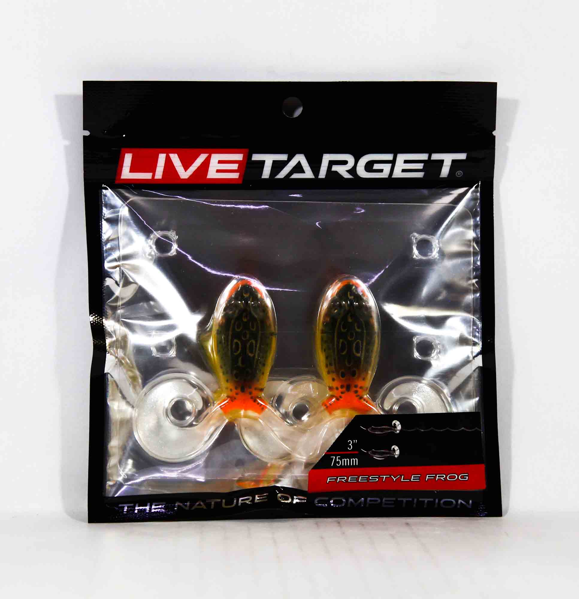 Live Target FSF75T519 Freestyle Frog 3 Inch Emerald Red (3743)