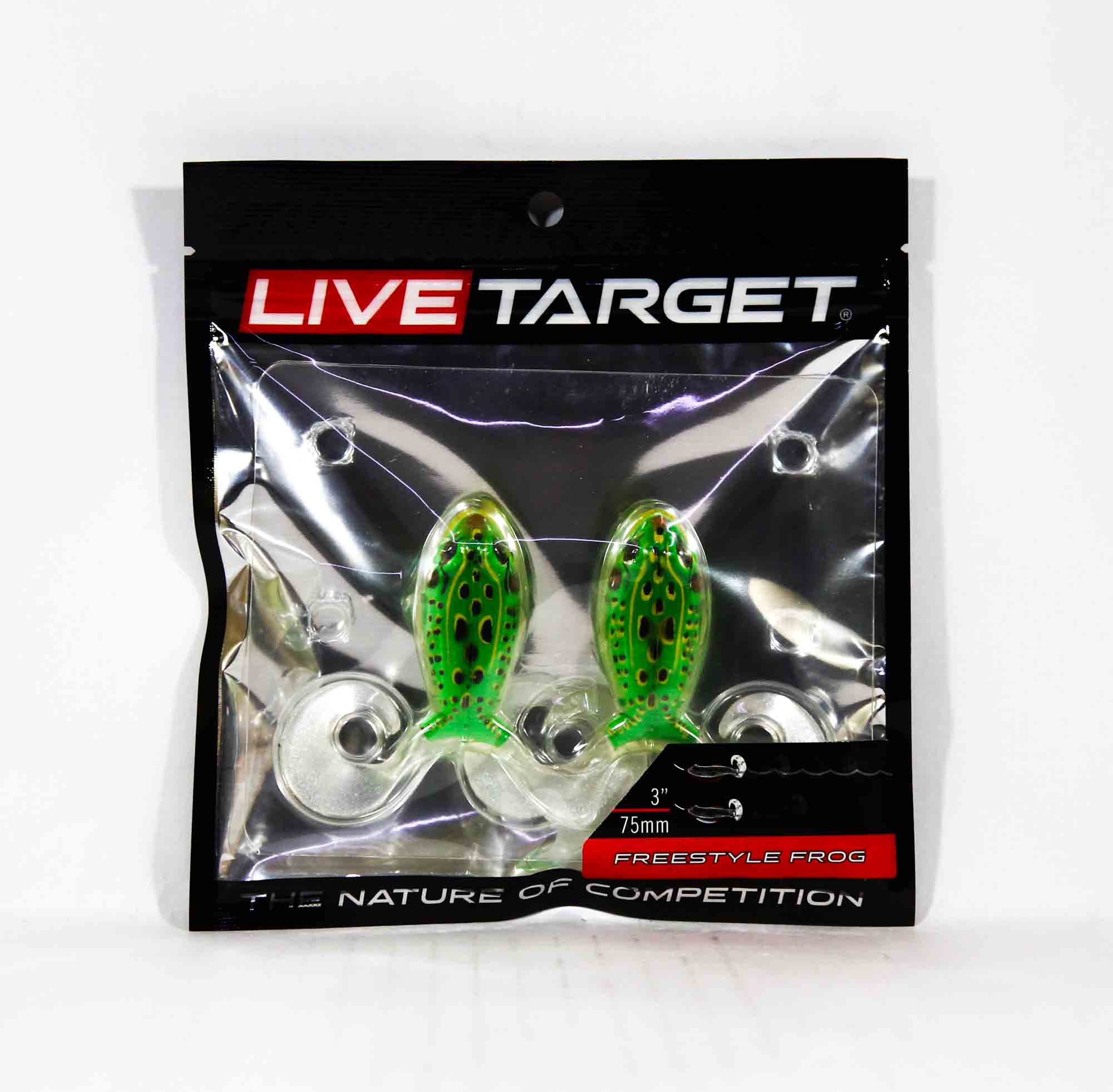 Live Target FSF75T512 Freestyle Frog 3 Inch Floroscent Green Yellow (3750)