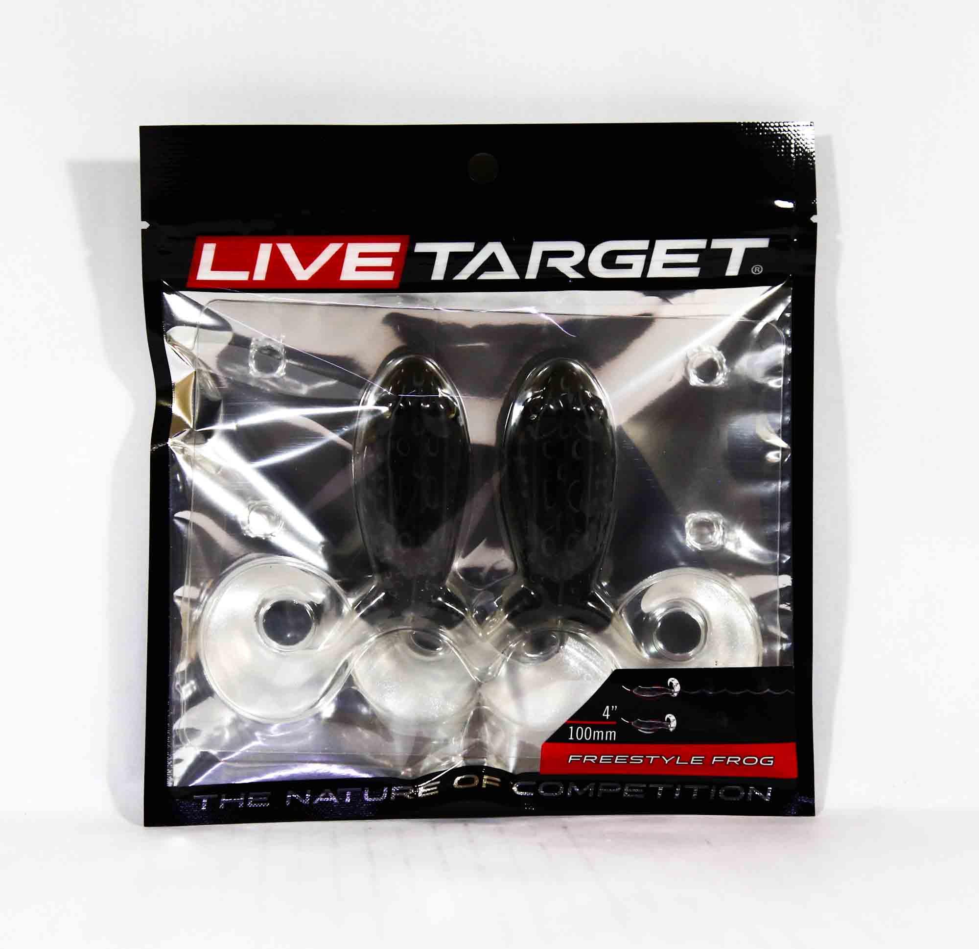 Live Target FSF100T517 Freestyle Frog 4 Inch Black Black (3880)