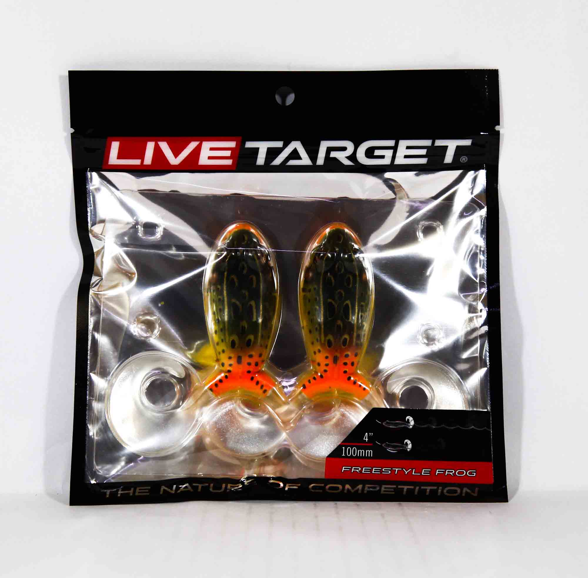 Live Target FSF100T519 Freestyle Frog 4 Inch Emerald Red (3903)