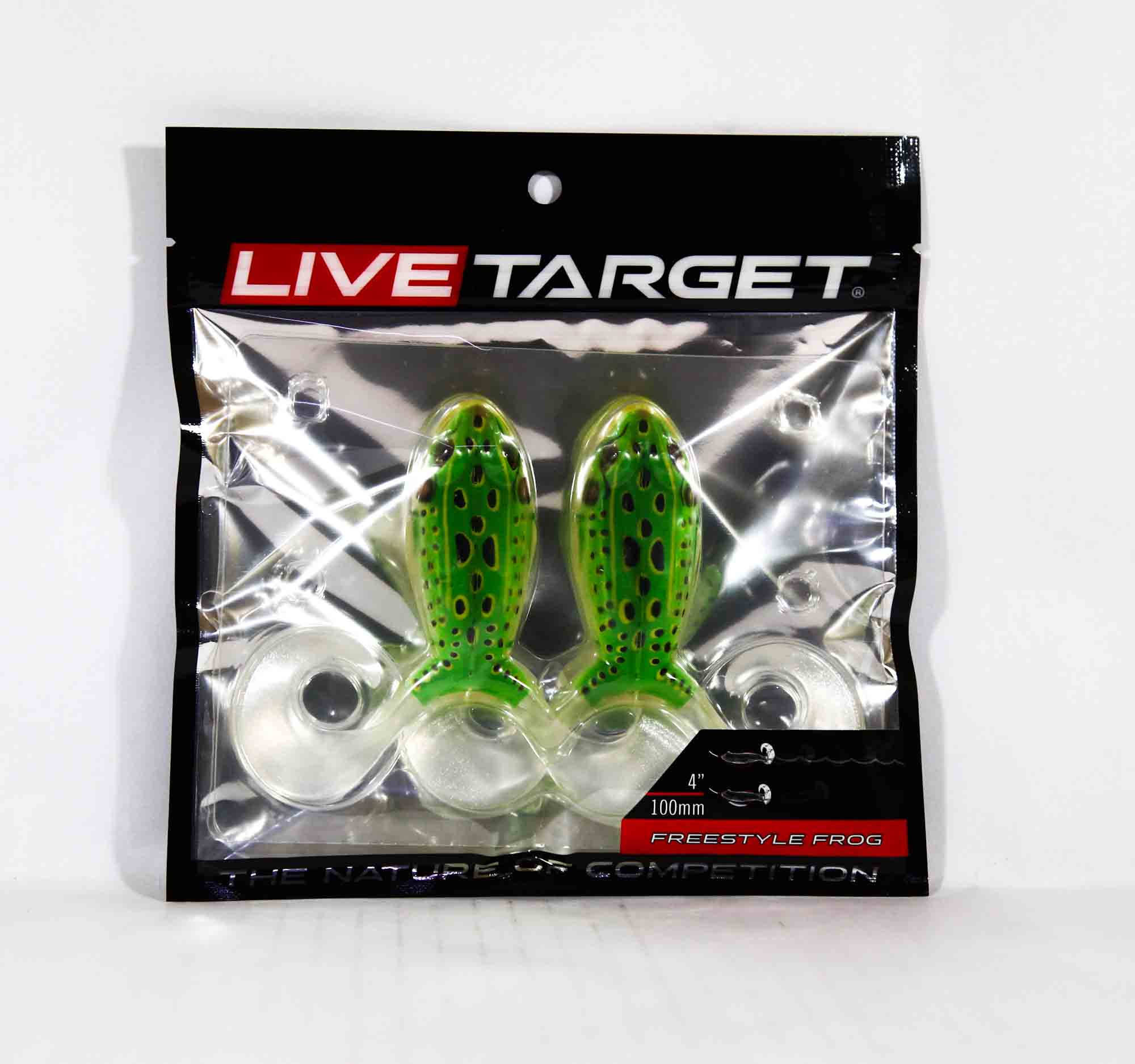 Live Target FSF100T512 Freestyle Frog 4 Inch Floroscent Green Yellow (3910)