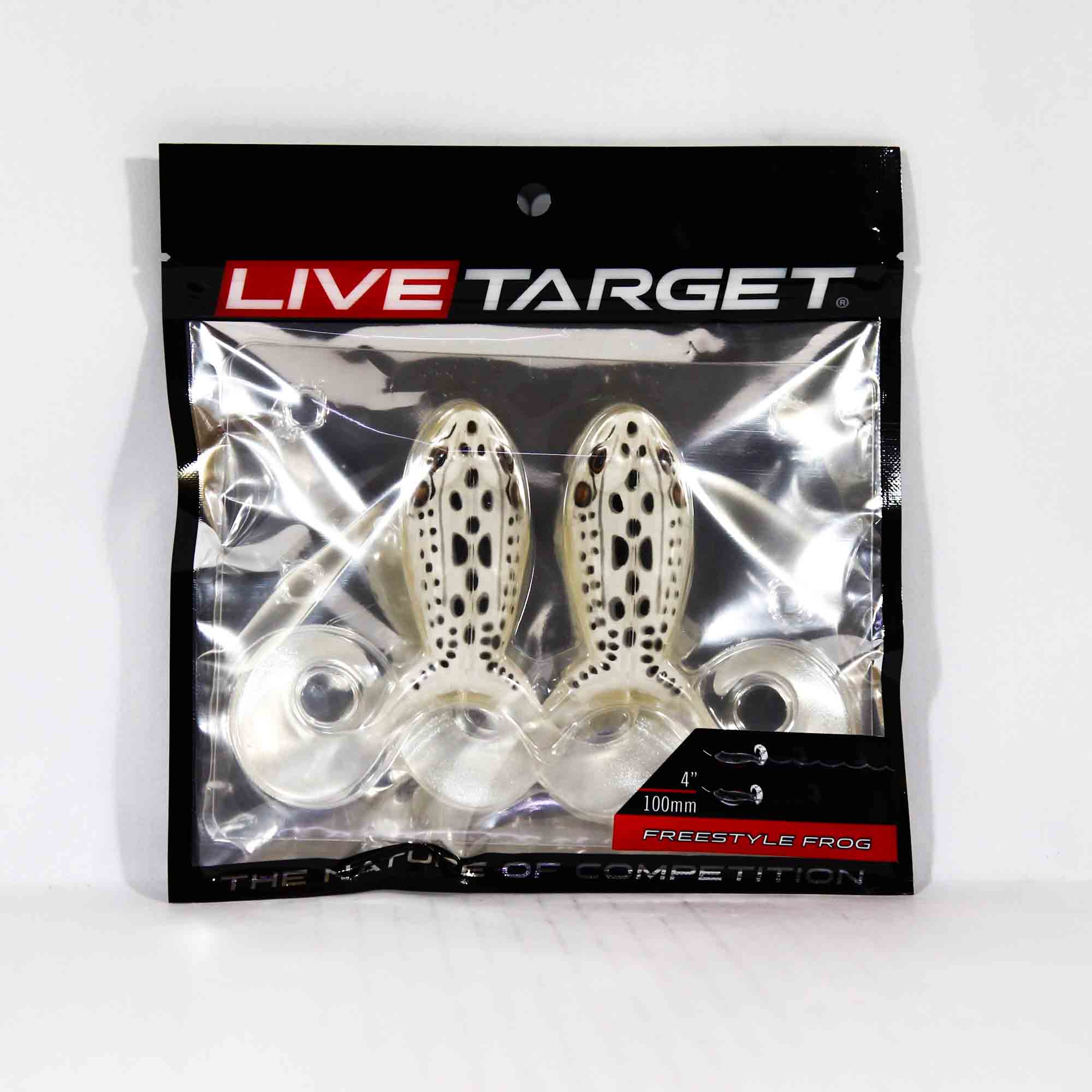Live Target FSF100T516 Freestyle Frog 4 Inch Albino White (3927)