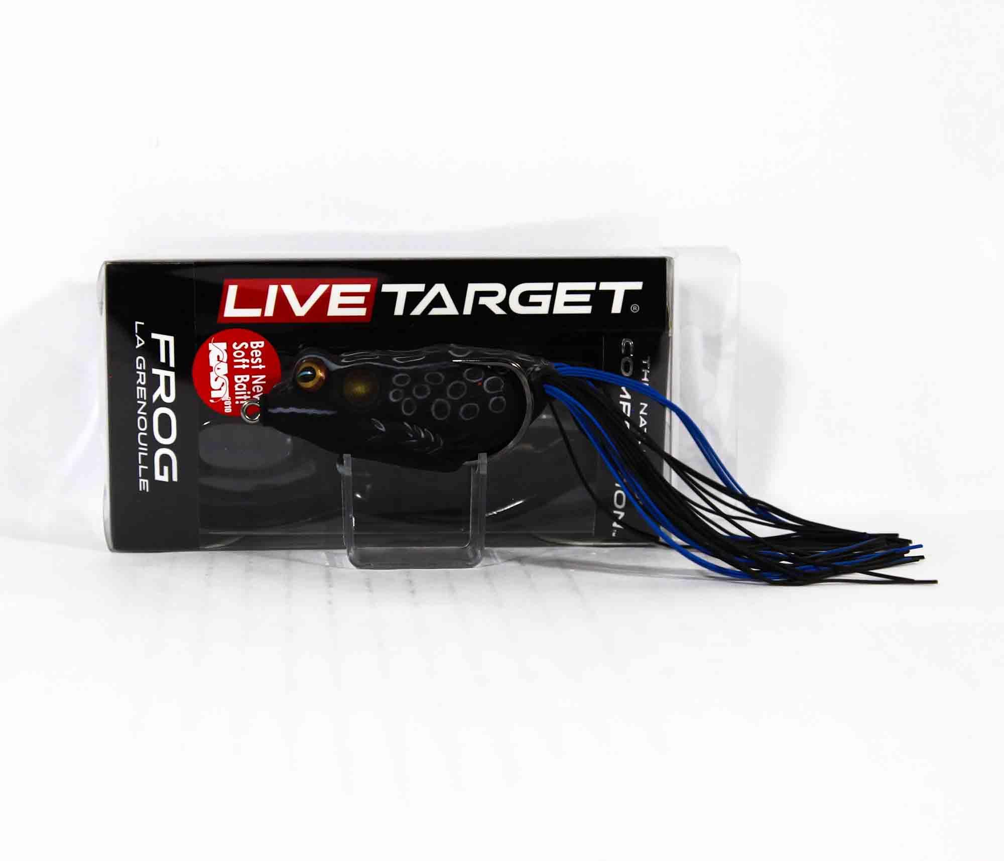 Live Target FGH65T517 Frog Walking Bait 2.75 Inch Black Black (9730)
