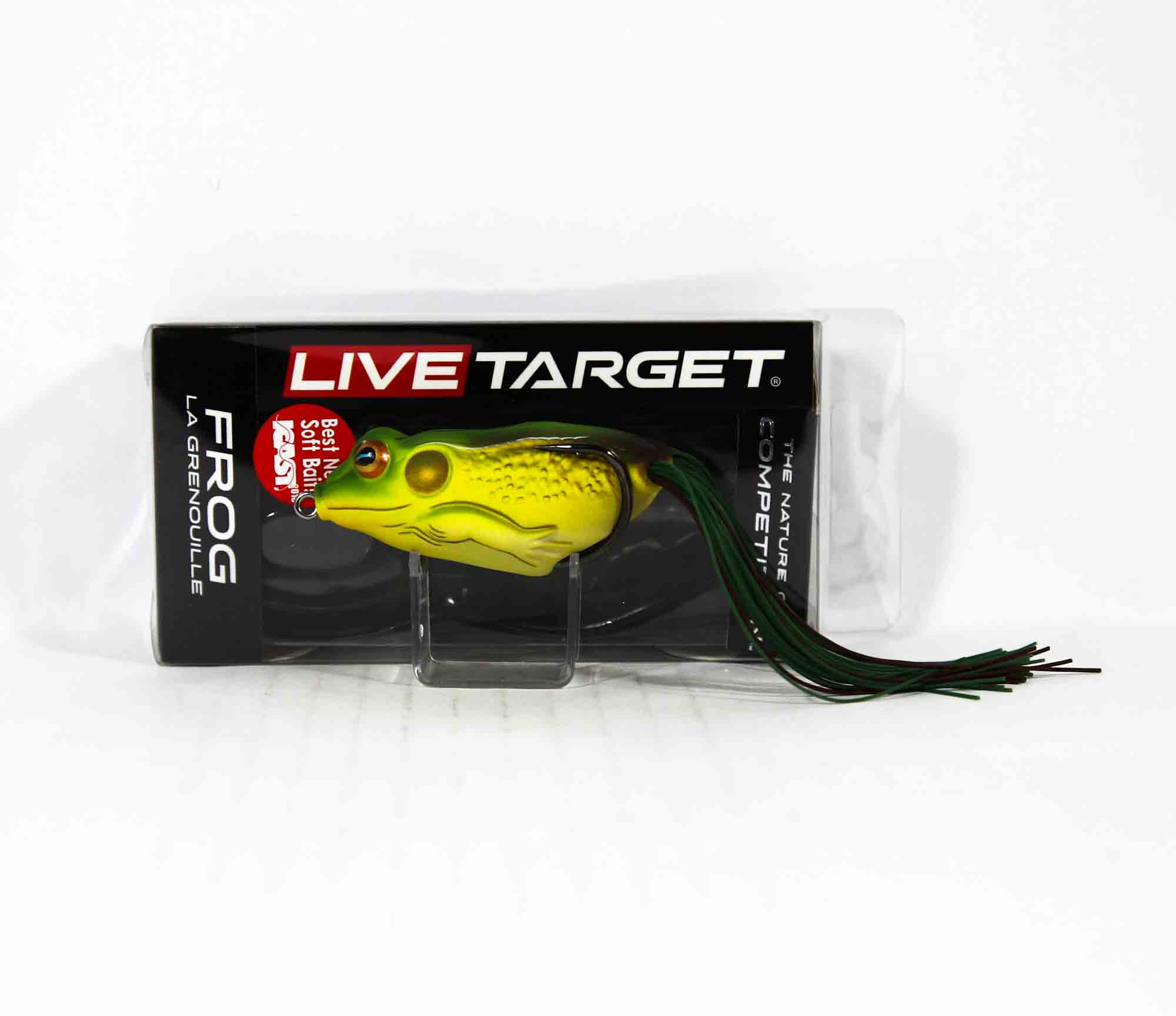 Live Target FGH65T508 Frog Walking Bait 2.75 Inch Green Brown (0411)