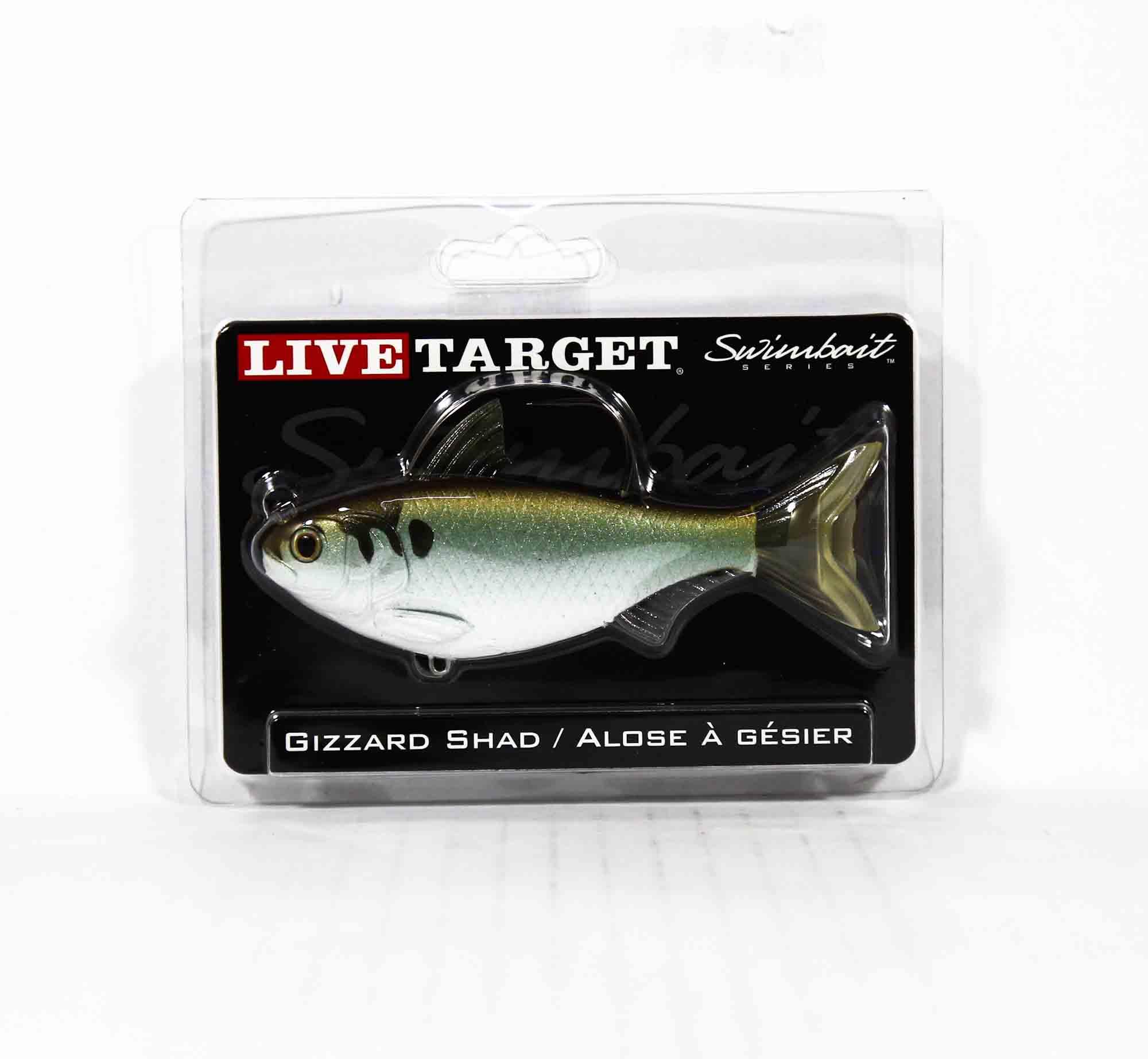 Live Target GZS112MS703 Swimbait Gizzard Shad 4.5 Inch Green Bronze (9358)