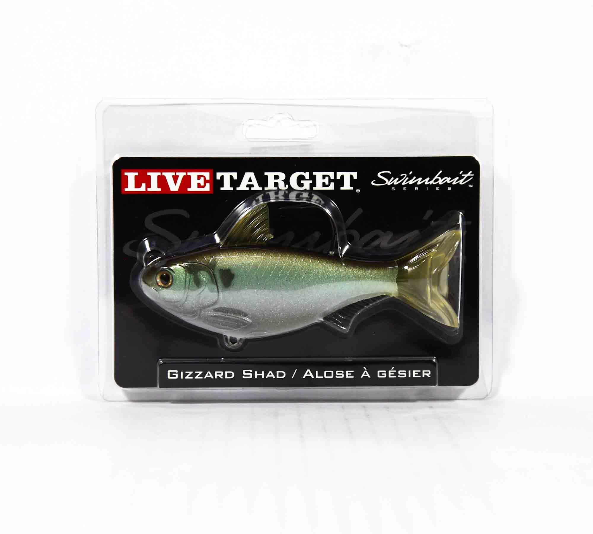 Live Target GZS125MS703 Swimbait Gizzard Shad 5 Inch Green Bronze (9389)