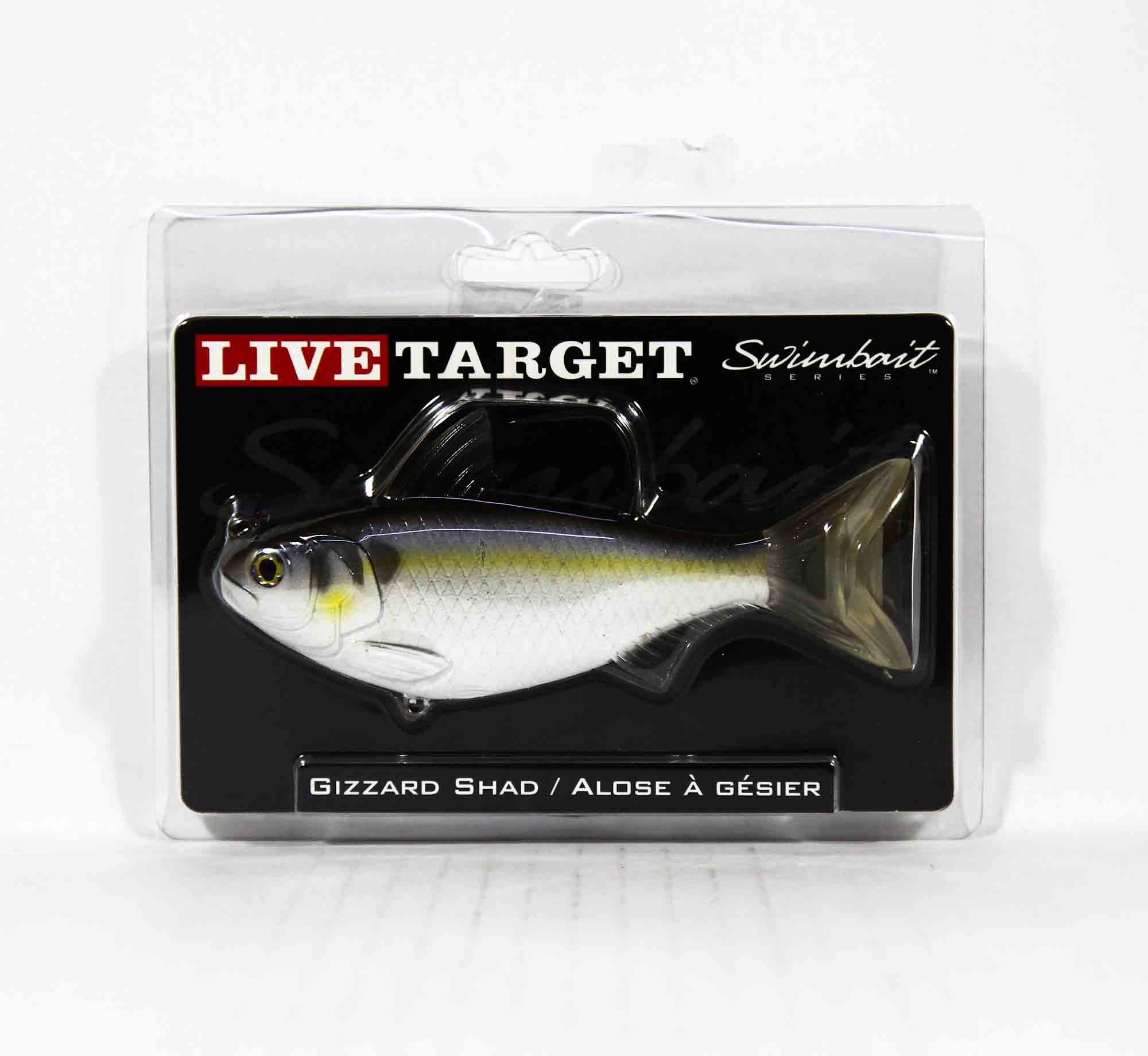 Live Target GZS139MS705 Swimbait Gizzard Shad 5.5 Inch Violet Blue (9112)