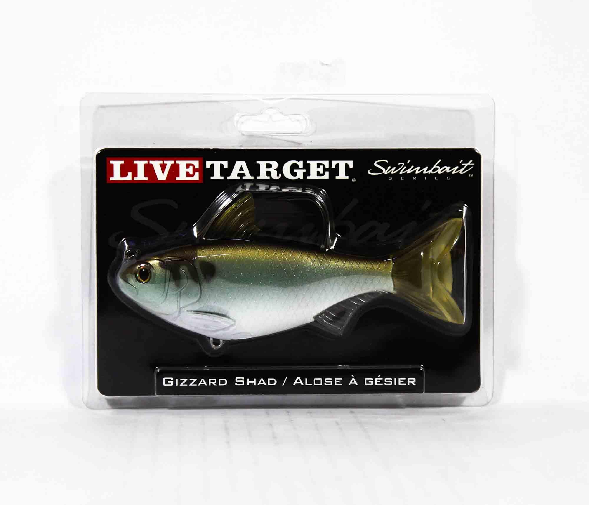Live Target GZS139MS703 Swimbait Gizzard Shad 5.5 Inch Green Bronze (9419)