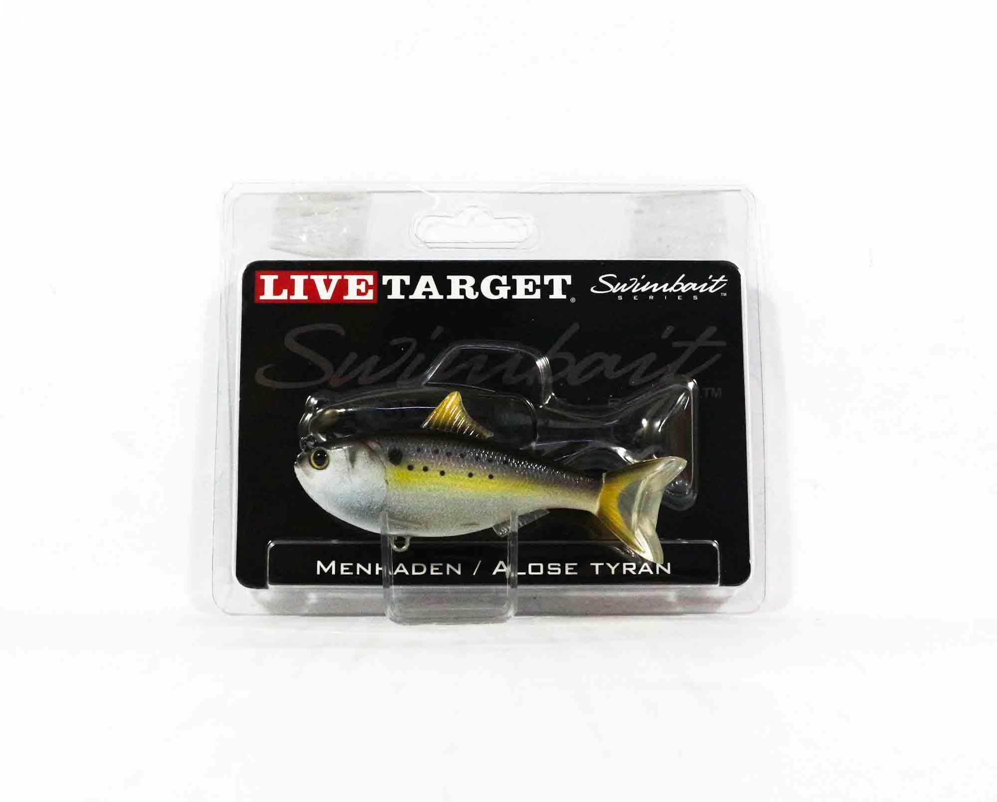 Live Target MHS90MS605 Swimbait Menhaden 3.5 Inch Natural (0385)