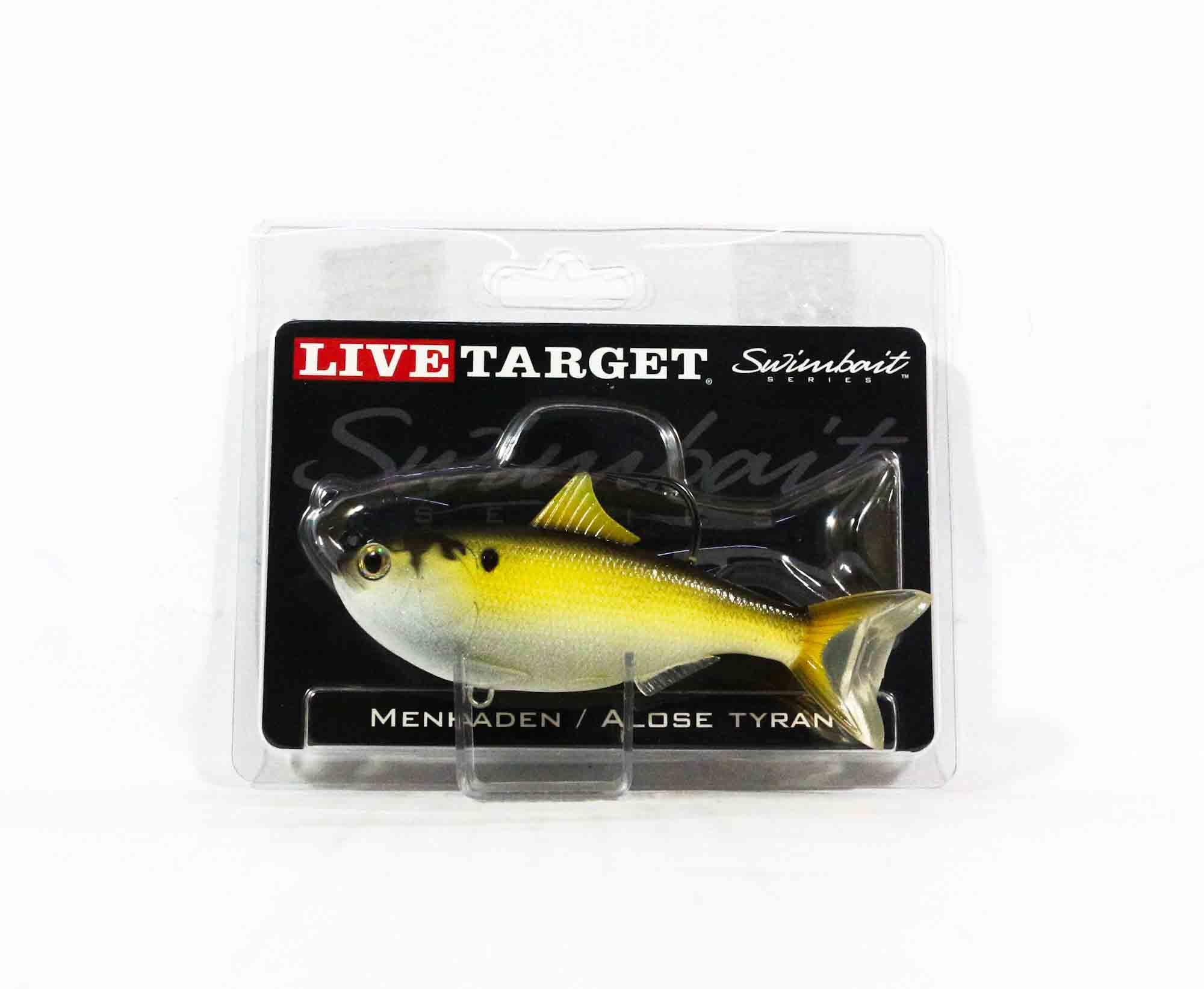 Live Target MHS110MS630 Swimbait Menhaden 4.5 Inch Bronze (0415)