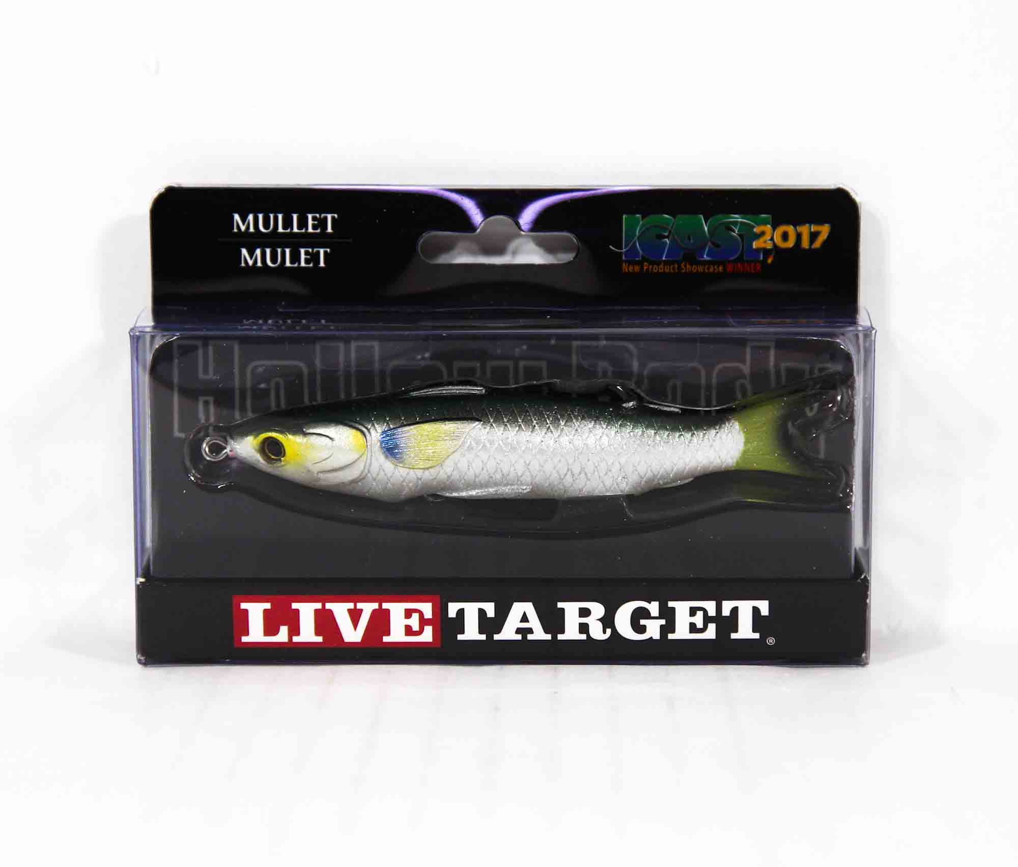 Live Target MUH95T716 Mullet Walking Bait 3.75 Inch Silver (0422)