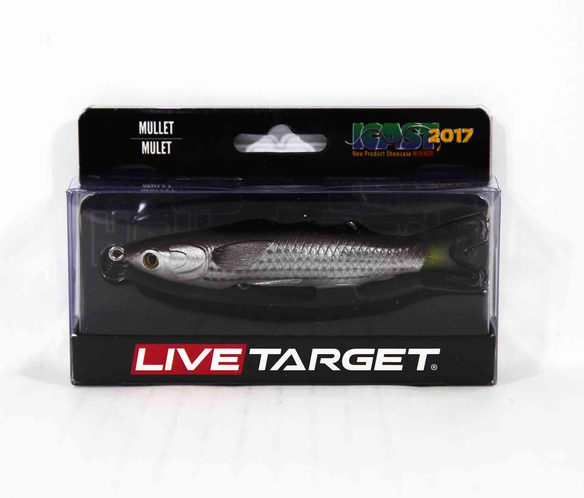 Live Target MUH95T721 Mullet Walking Bait 3.75 Inch Natural Black (0439)