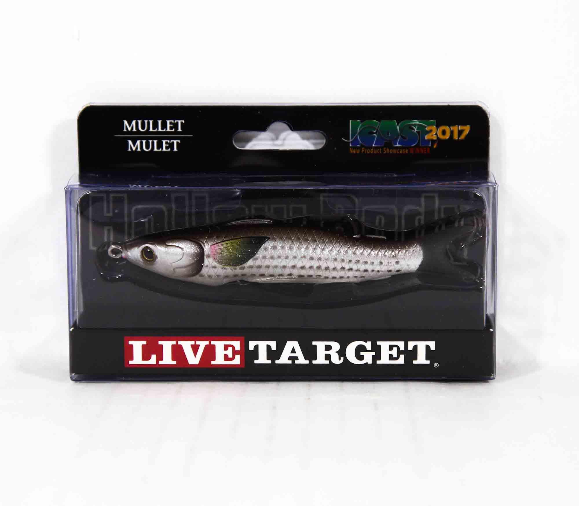 Live Target MUH95T723 Mullet Walking Bait 3.75 Inch Natural Brown (0453)