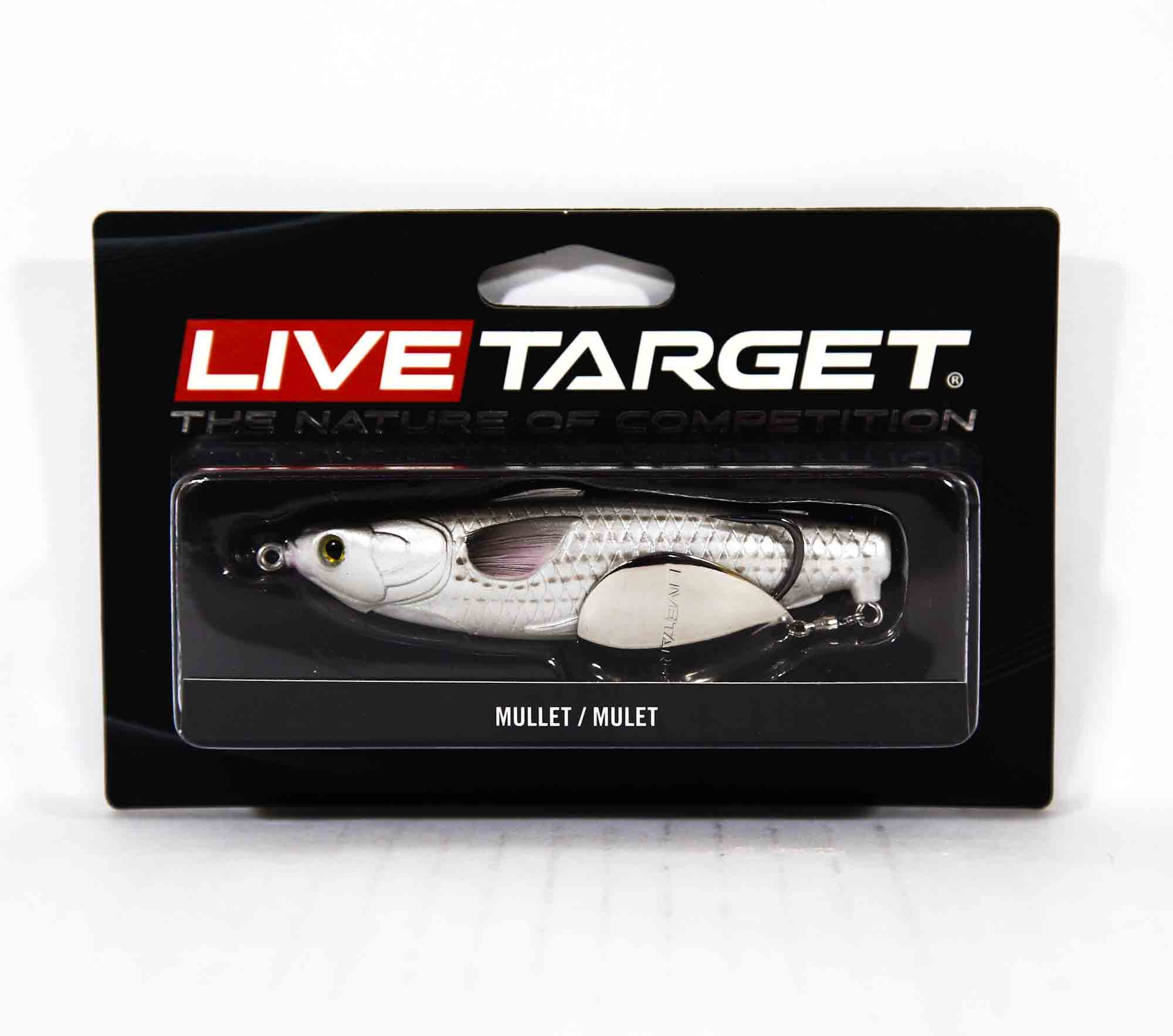 Live Target MCH100T721 Mullet Commotion Bait 4 Inch Natural Black (2617)