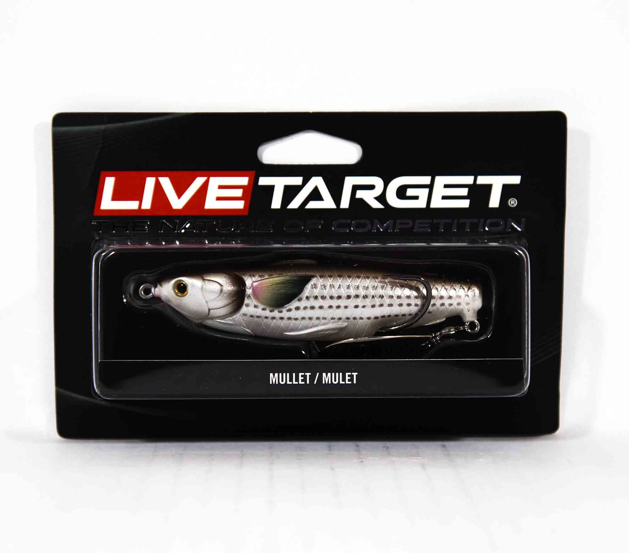 Live Target MCH100T723 Mullet Commotion Bait 4 Inch Natural Brown (2631)