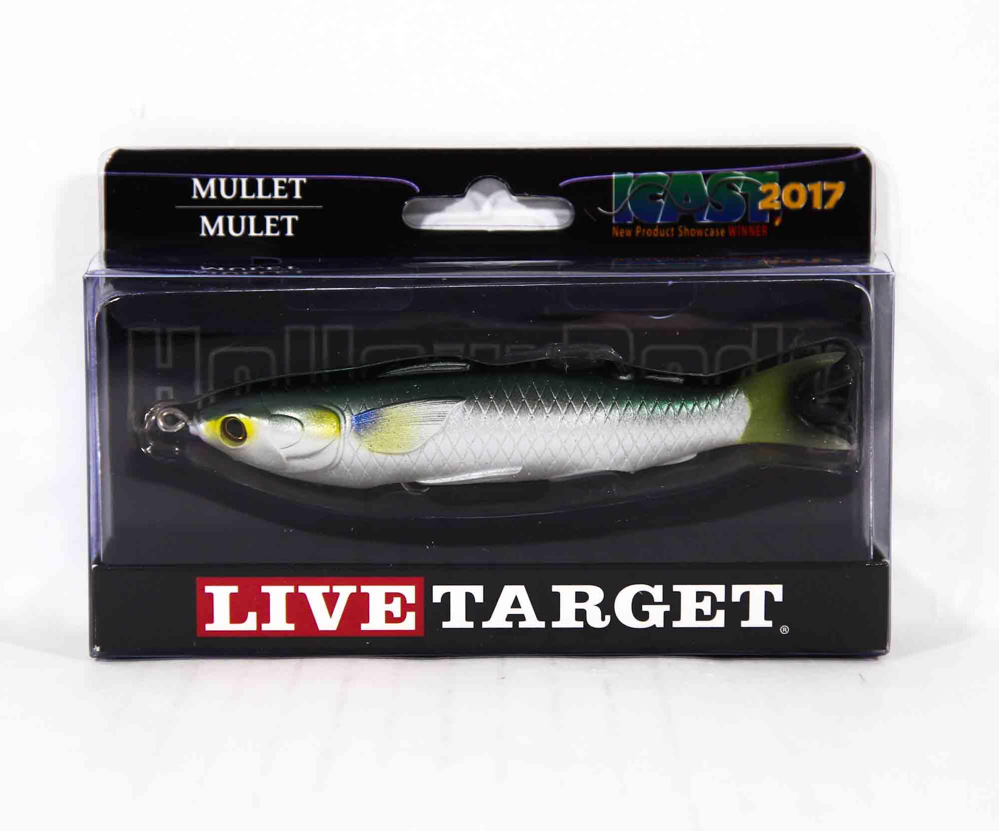 Live Target MUH115T716 Mullet Walking Bait 4.5 Inch Silver (0460)
