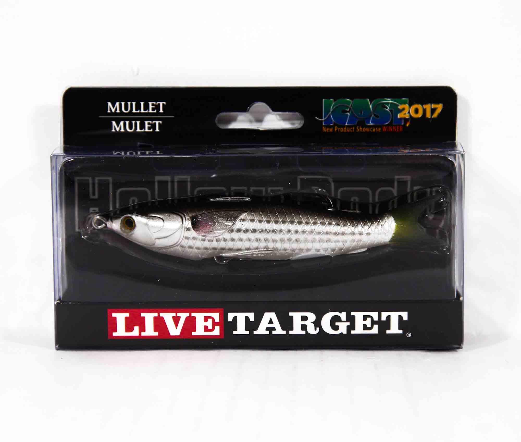 Live Target MUH115T721 Mullet Walking Bait 4.5 Inch Natural Black (0477)