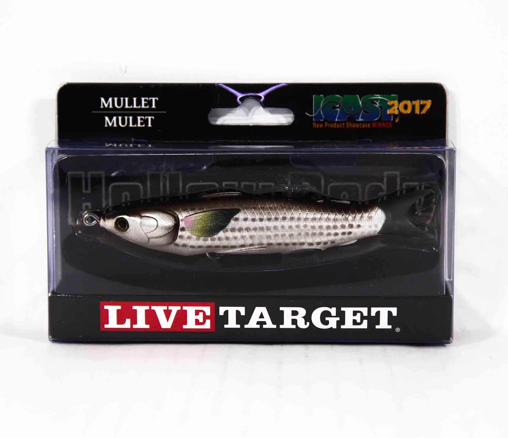 Live Target MUH115T723 Mullet Walking Bait 4.5 Inch Natural Brown (0491)