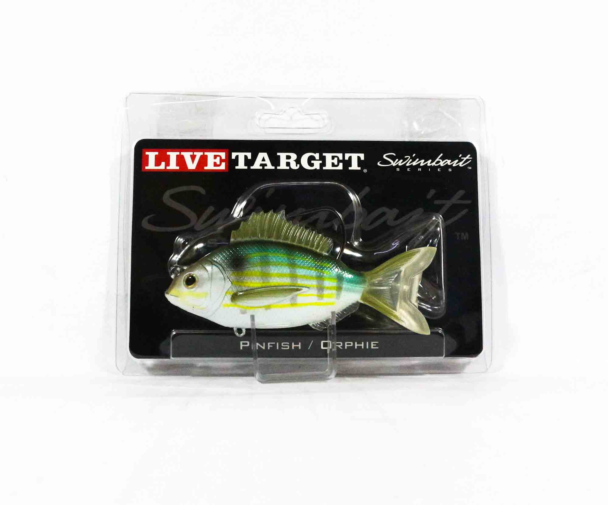 Live Target PFS105MS719 Swimbait Pinfish 4 Inch Silver Green (1147)