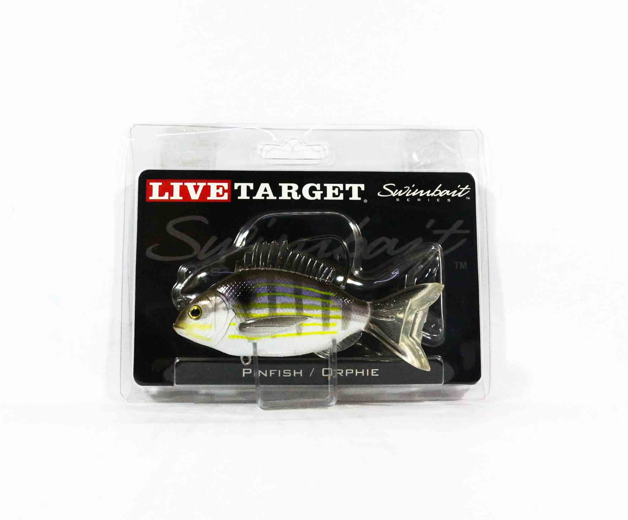 Live Target PFS105MS718 Swimbait Pinfish 4 Inch Silver Violet (9266)