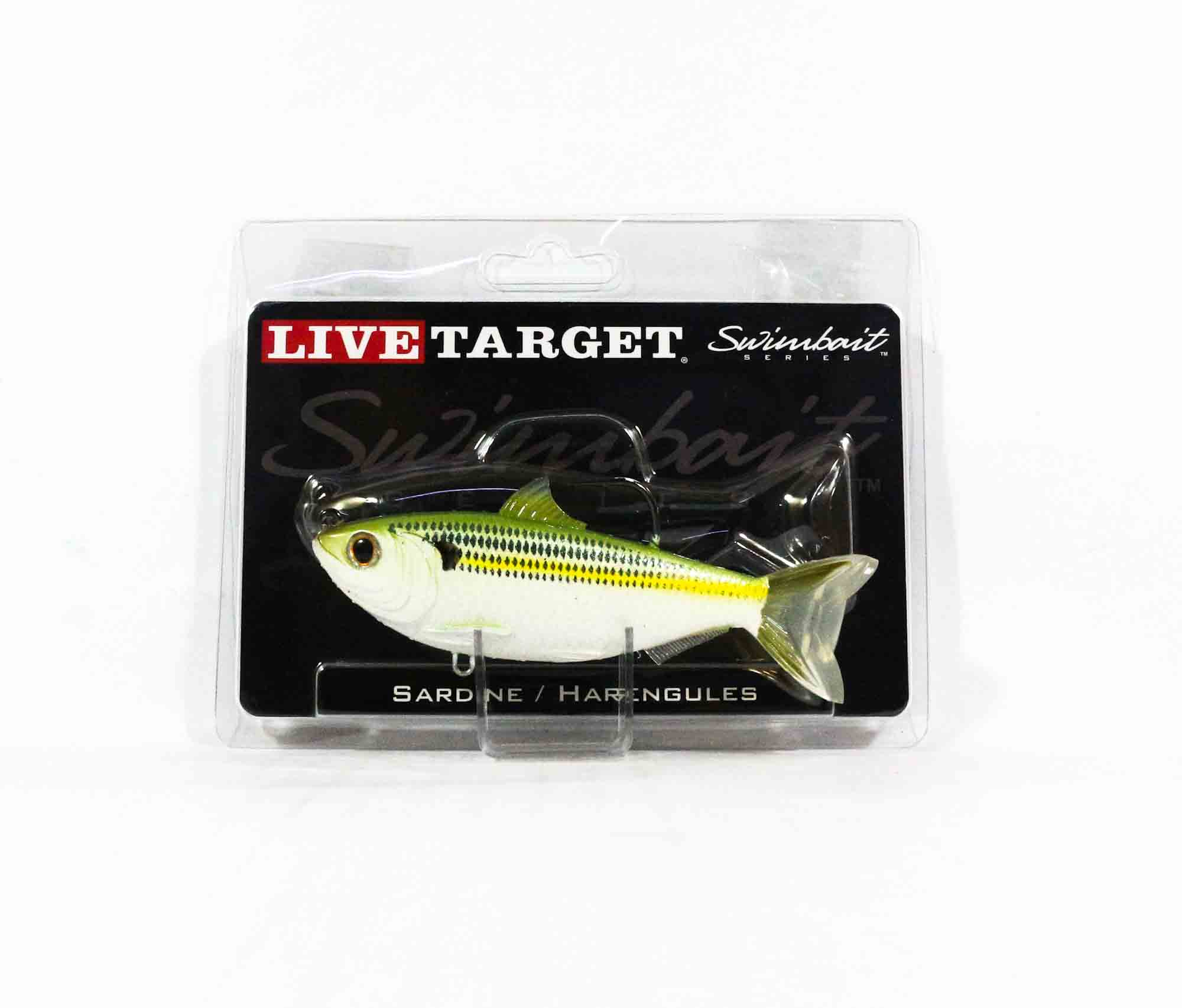 Live Target SDS115MS719 Swimbait Scaled Sardine 4.5 Inch Silver Green (9310)