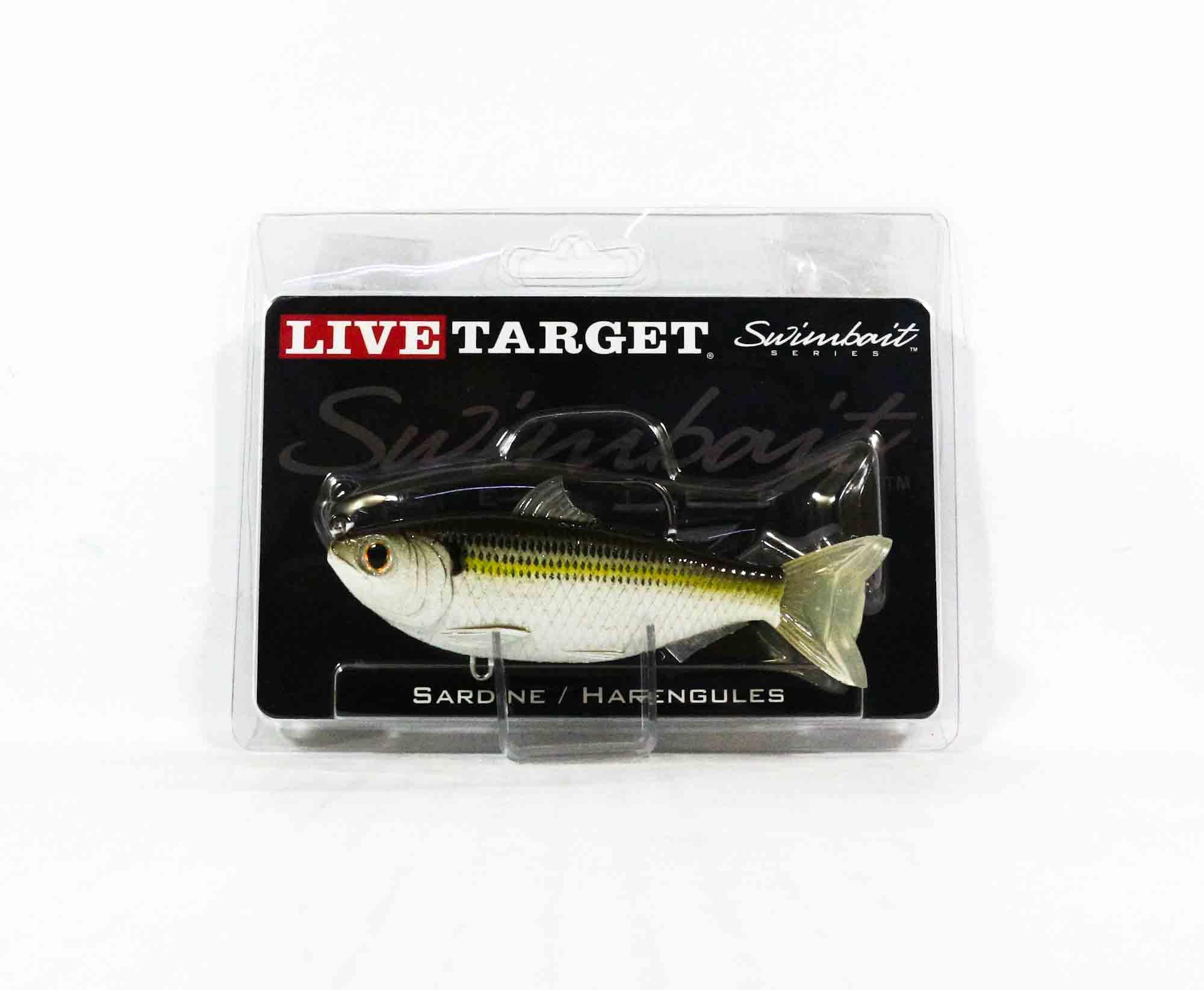 Live Target SDS115MS720 Swimbait Scaled Sardine 4.5 Inch Silver Bronze (0071)