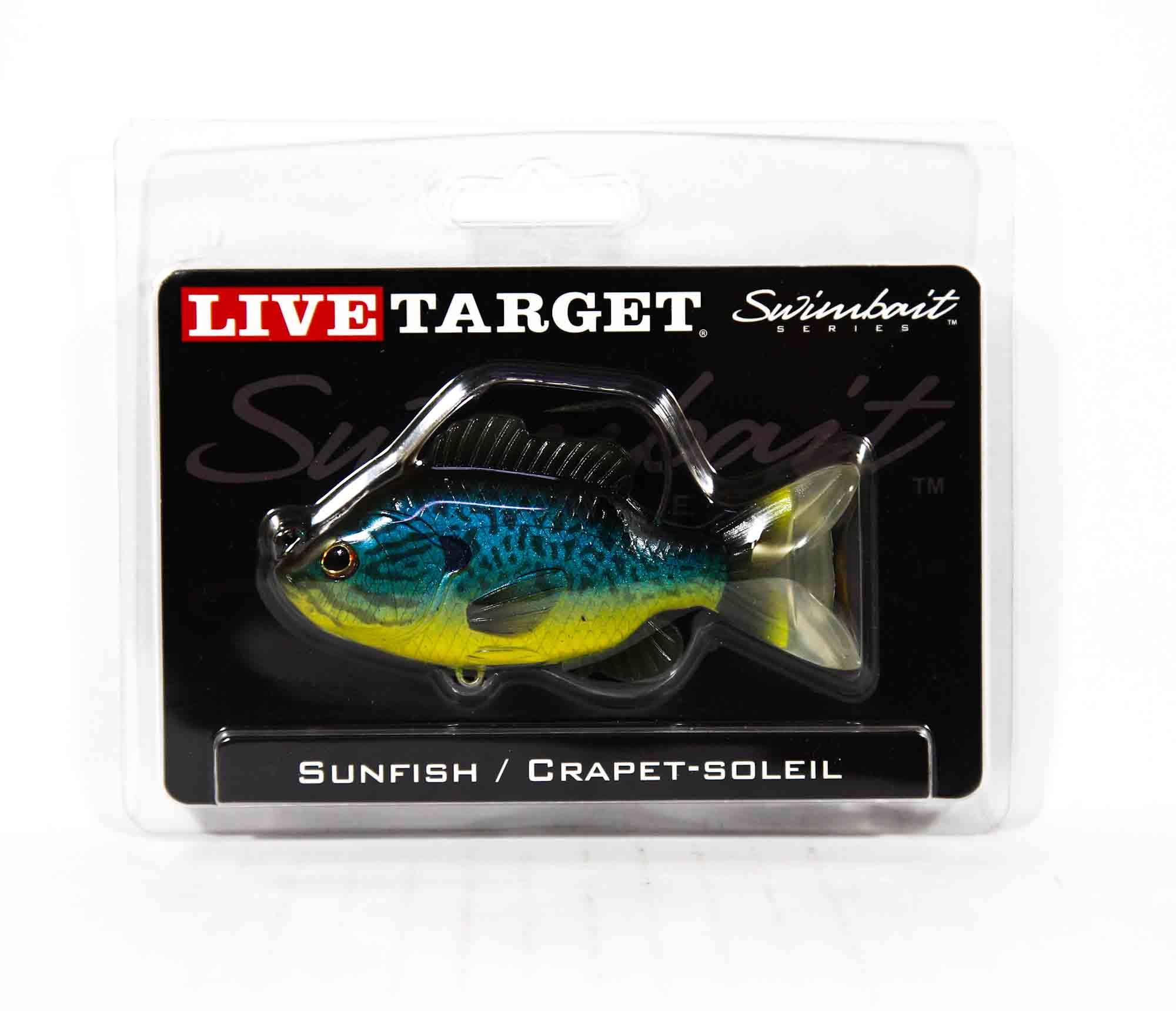 Live Target SFS90MS555 Swimbait Sunfish 3.5 Inch Blue Yellow Pumpkinseed (0613)
