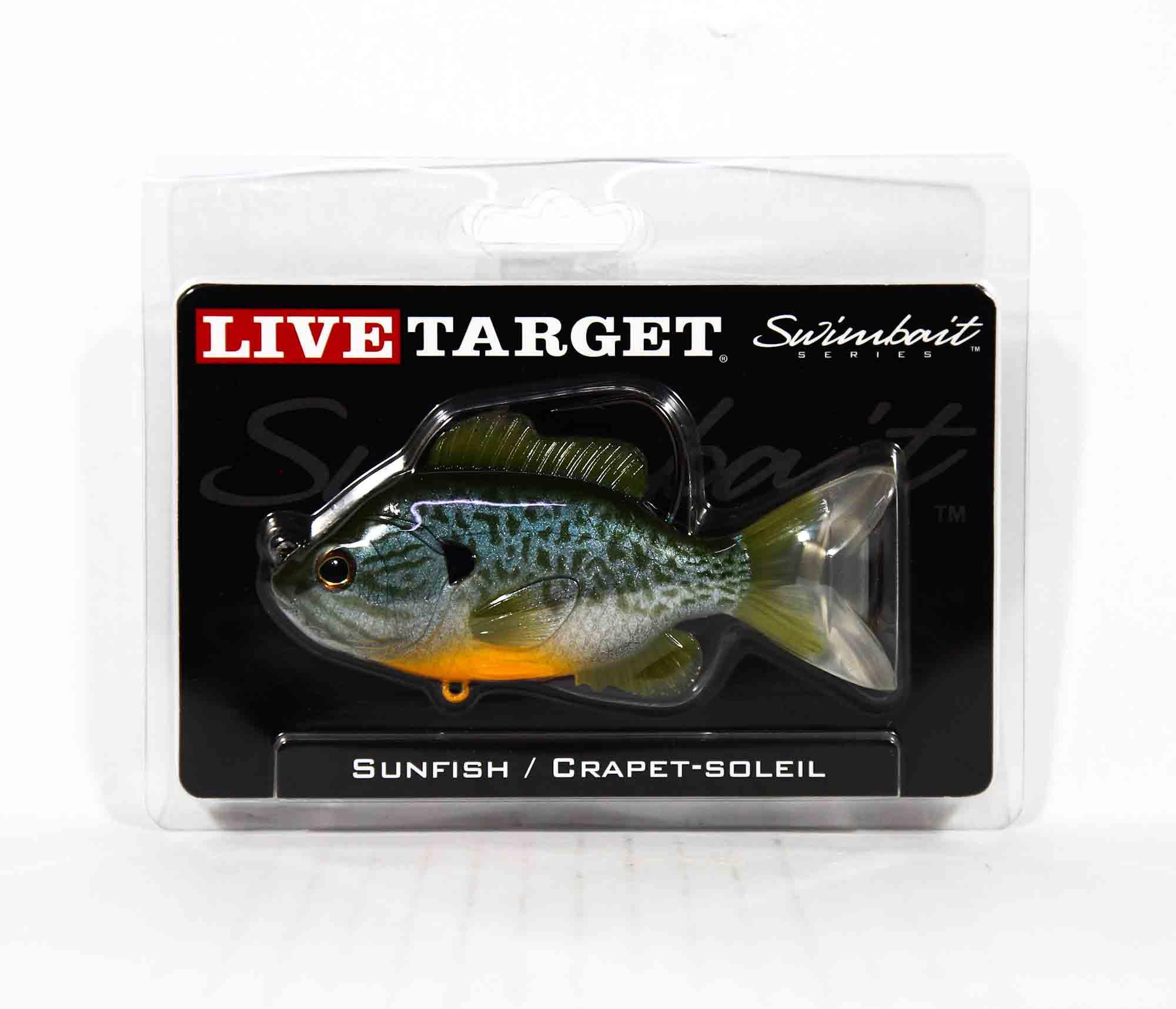 Live Target SFS110MS551 Swimbait Sunfish 4.75 Inch N Blue Pumpkinseed (0620)