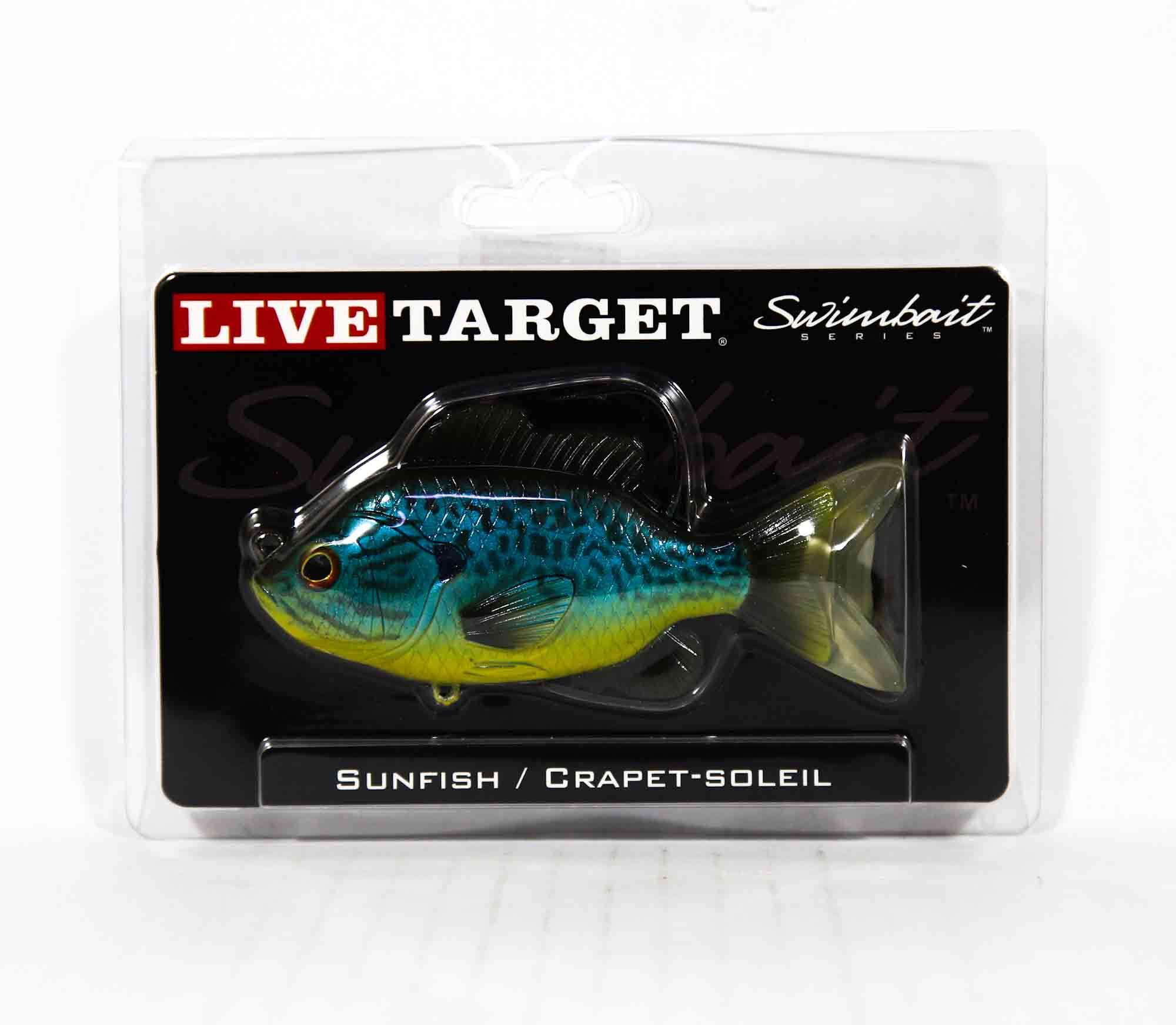 Live Target SFS110MS555 Swimbait Sunfish 4.75 Inch B Y Pumpkinseed (0651)