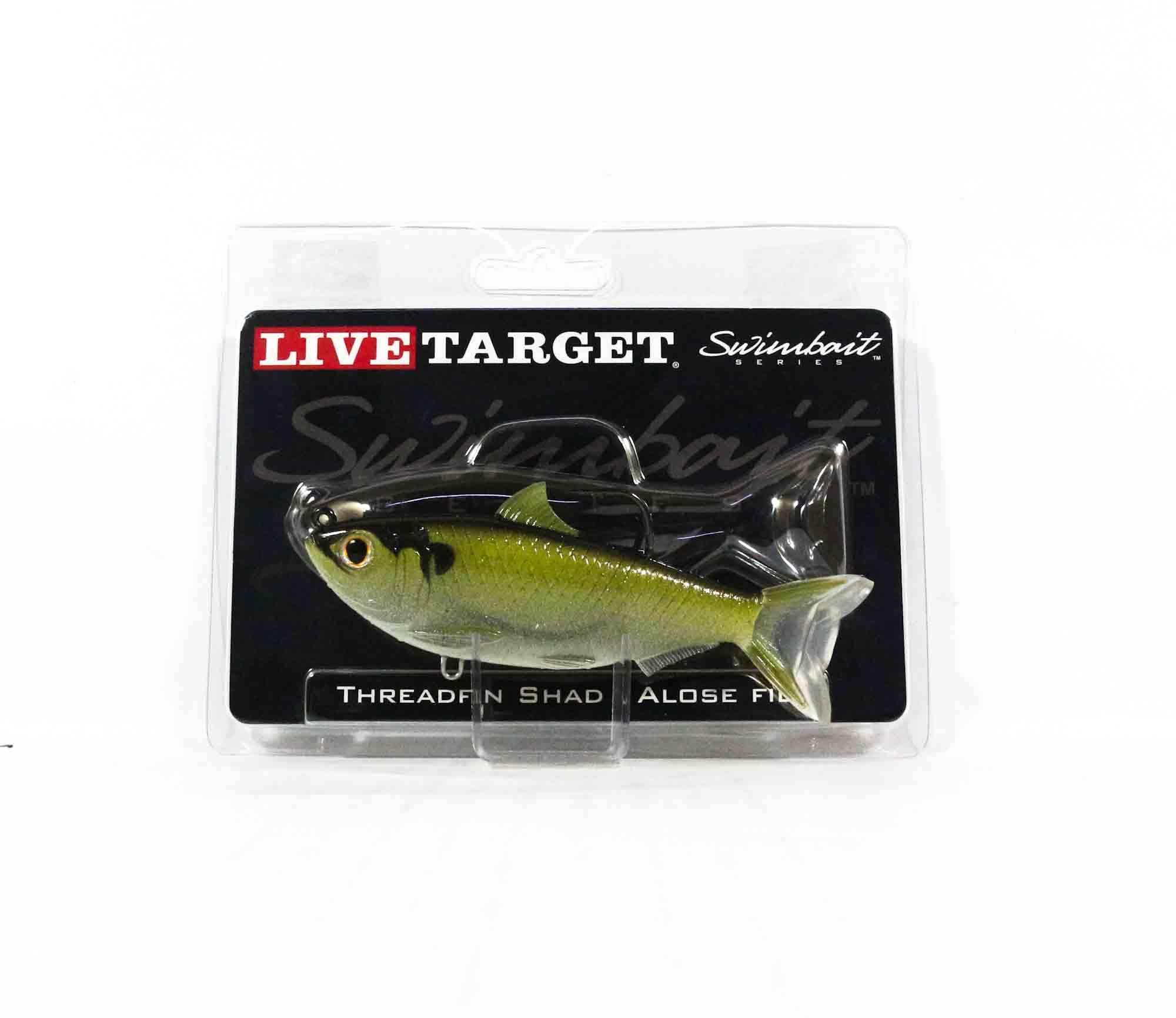 Live Target TFS115MS703 Swimbait Threadfin Shad 4.5 Inch Green Bronze (9471)