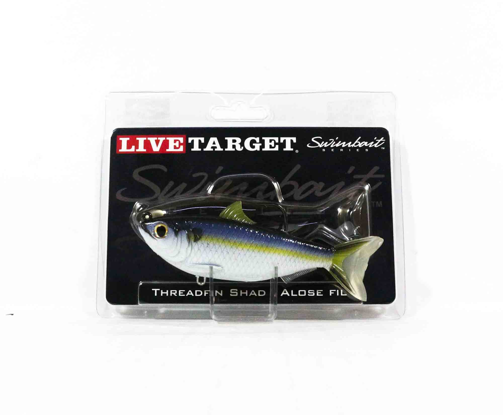 Live Target TFS115MS705 Swimbait Threadfin Shad 4.5 Inch Violet Blue (0019)