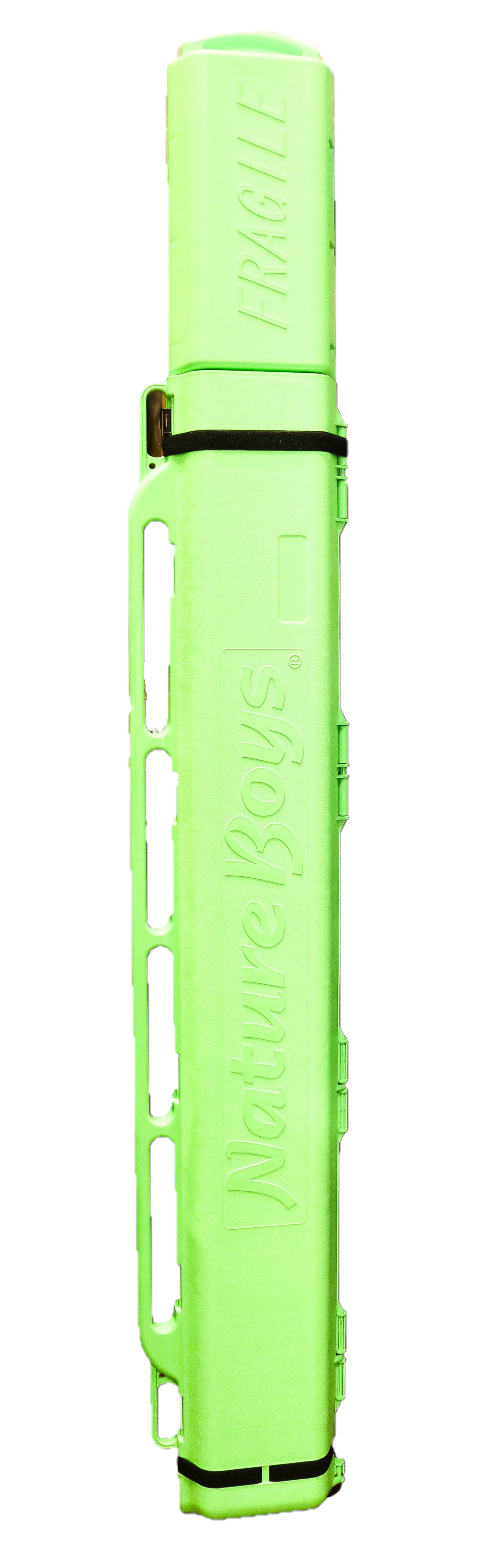Nature Boys Rod Case Extendable 1880 to 2380 x 130 x 85mm 5.7Kg Lime (0026)