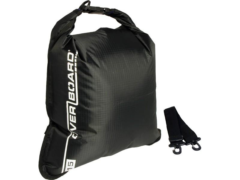 Overboard 15L Dry Flat Waterproof Bag 35 x 37 cm , 0.22 kg Black (0134)